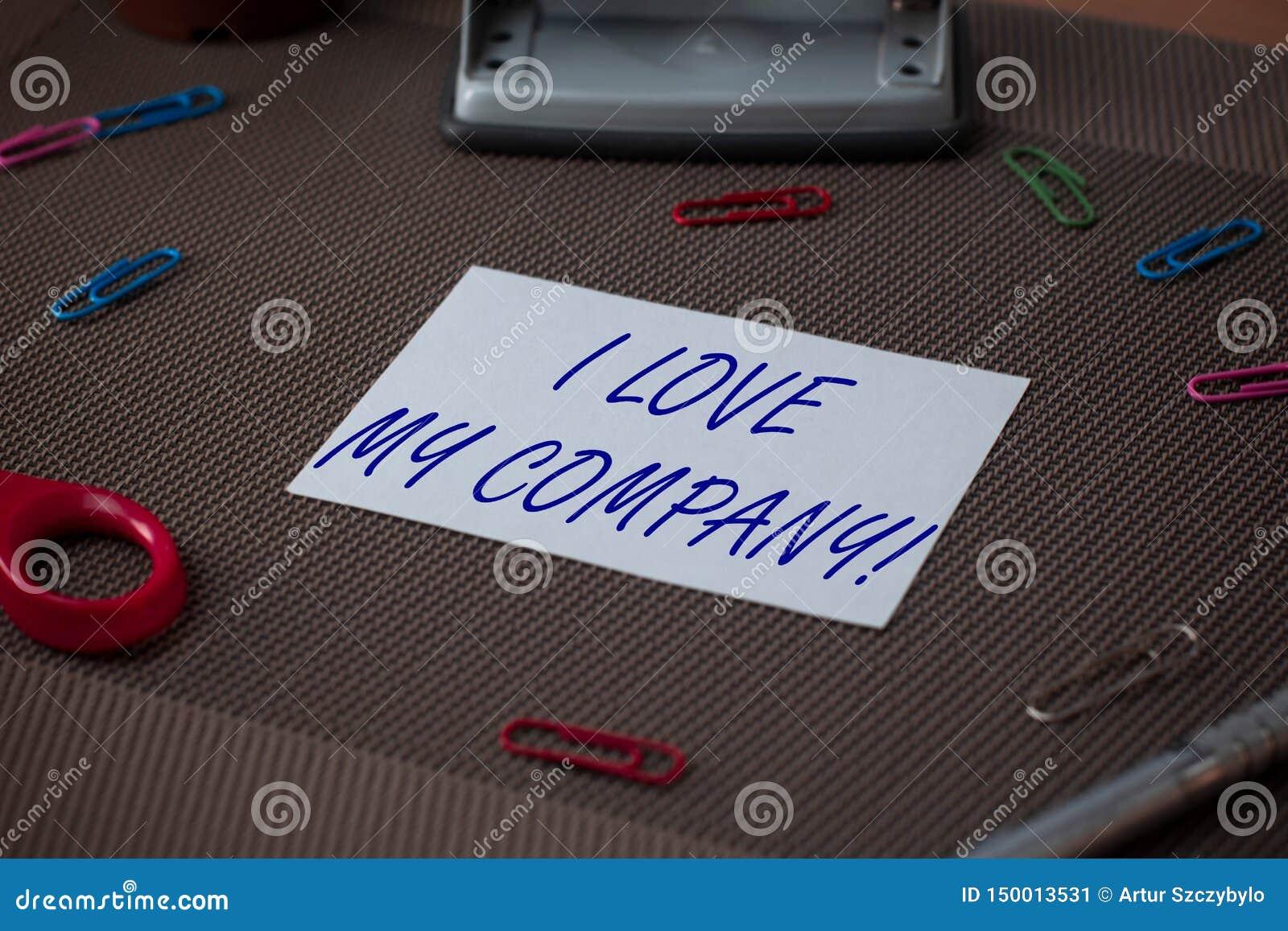Texto da escrita da palavra mim Amor Meu Empresa Conceito do negócio para para dizer por que admirar seus trabalho e tesouras e e