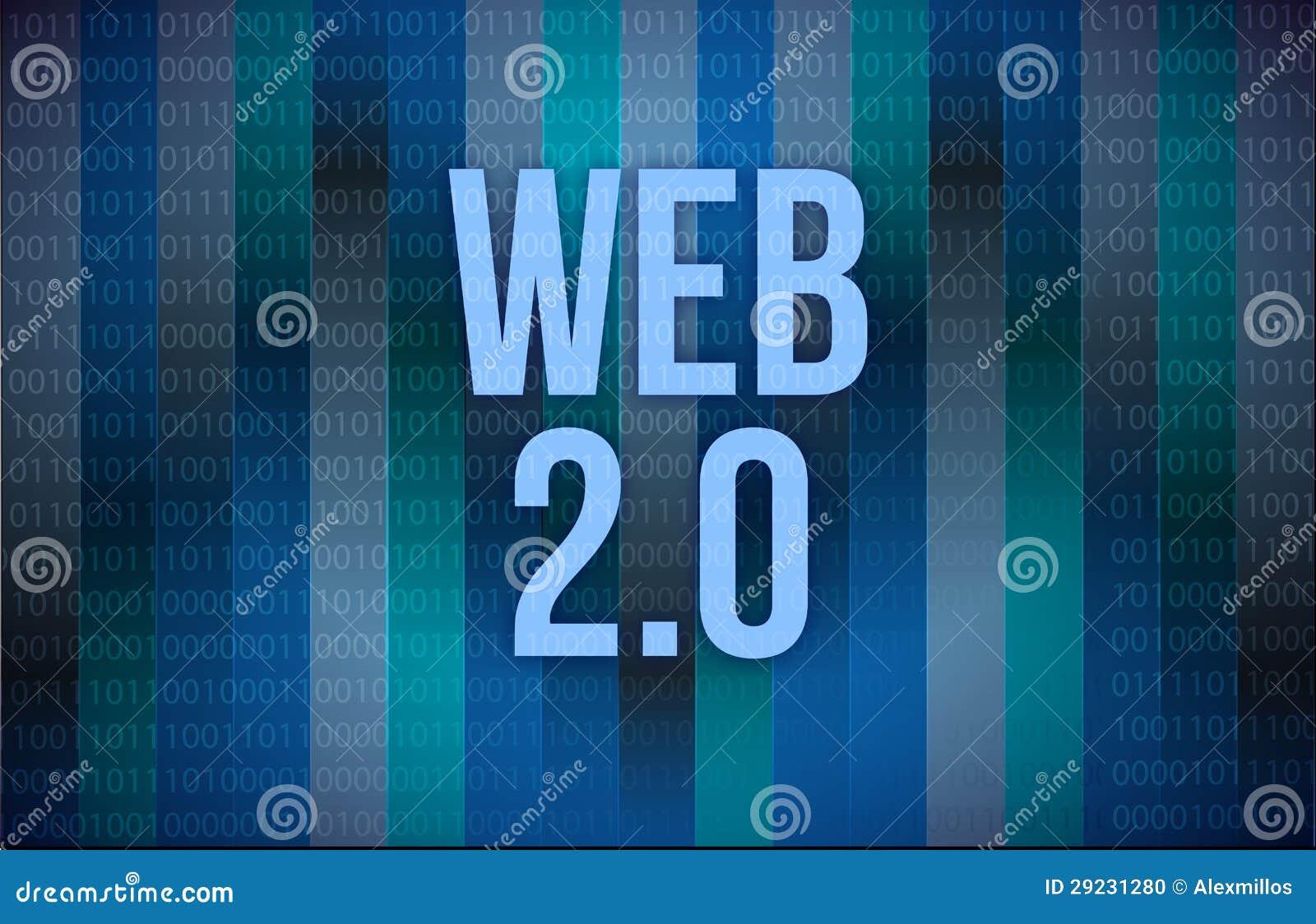 Download Texto Da Web 2,0 Em Um Código Binário Ilustração Stock - Ilustração de digital, número: 29231280