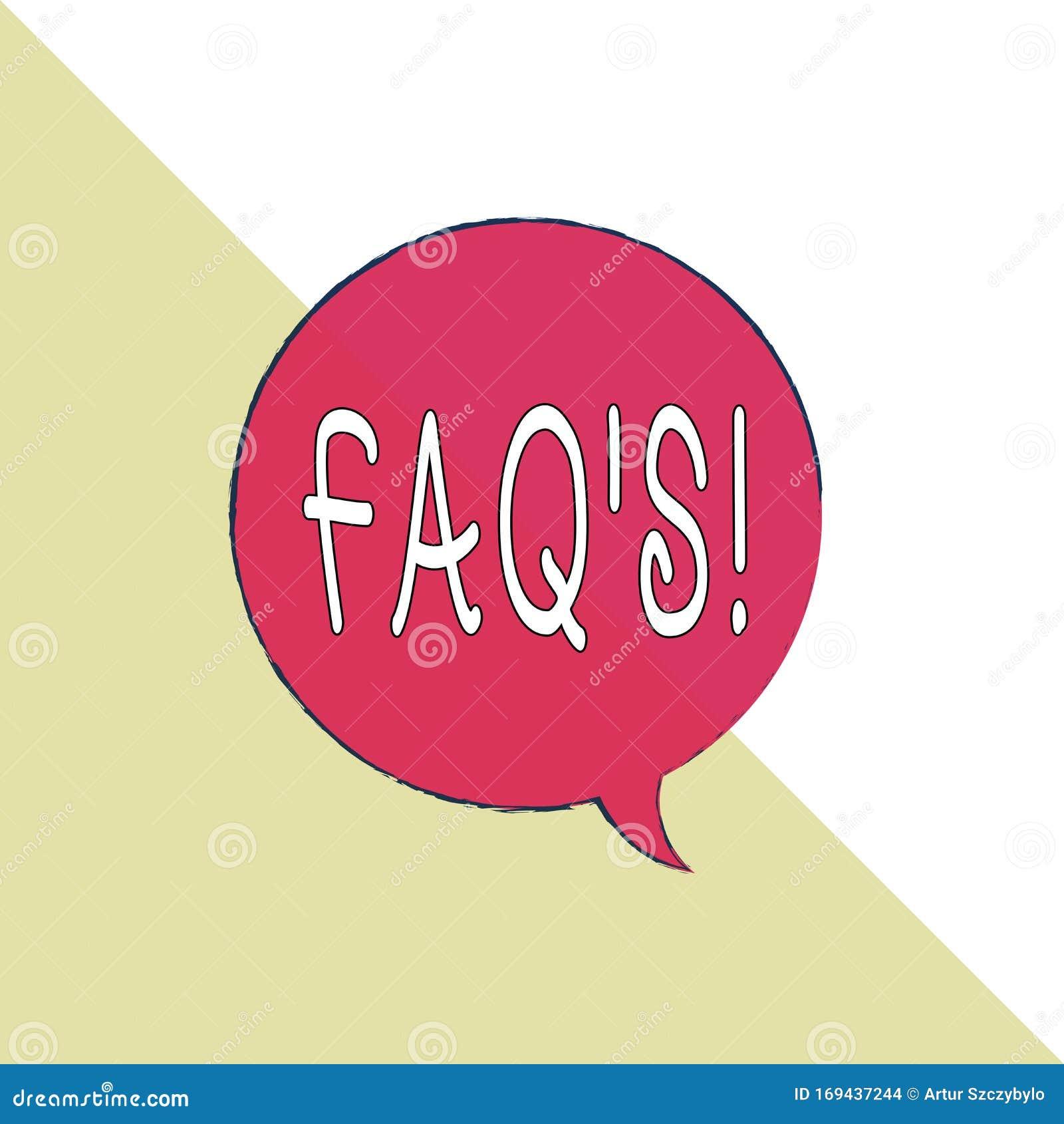 Texto De Escritura A Mano Faq Concepto Que Significa Una Lista De Preguntas Y Respuestas Relativas A Un Tema Determinado Rectangu Stock De Ilustracion Ilustracion De Relativas Respuestas 169437244
