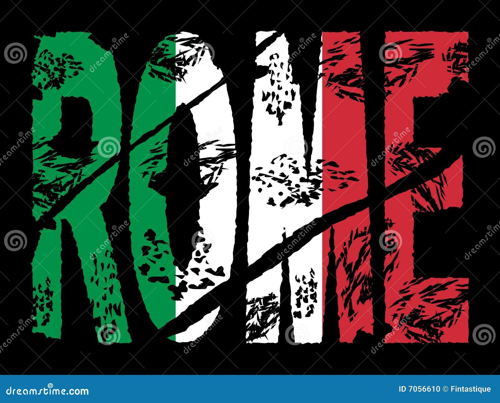 Texto de Grunge Roma con el indicador
