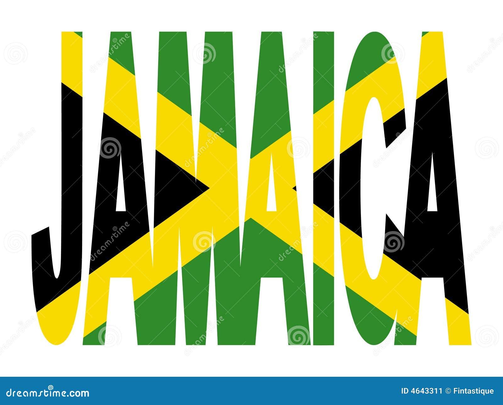 Texto de Jamaica com bandeira
