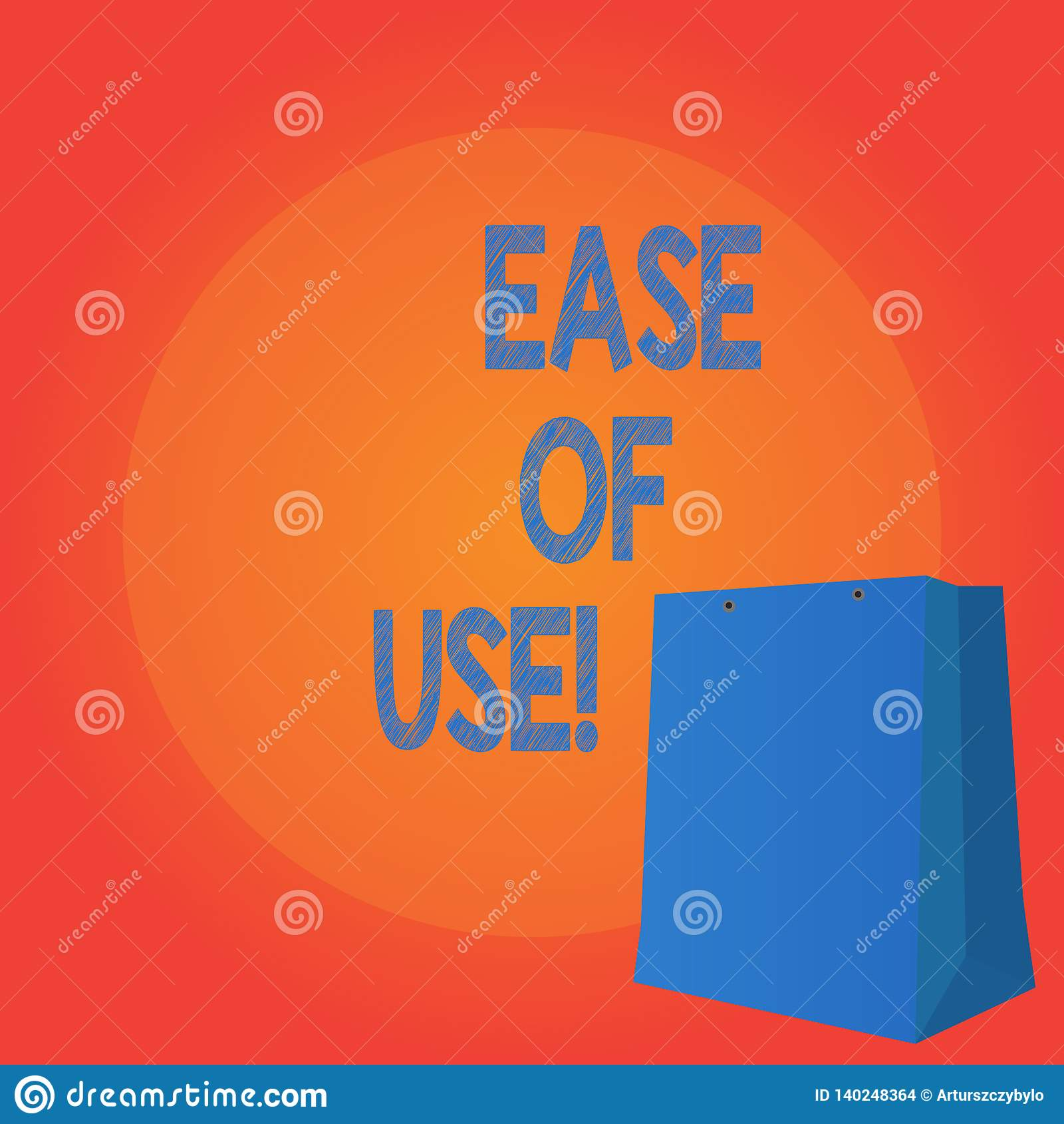 Texto de la escritura que escribe facilidad de empleo Fácil fácil de usar del significado del concepto actuar la tecnología simpl