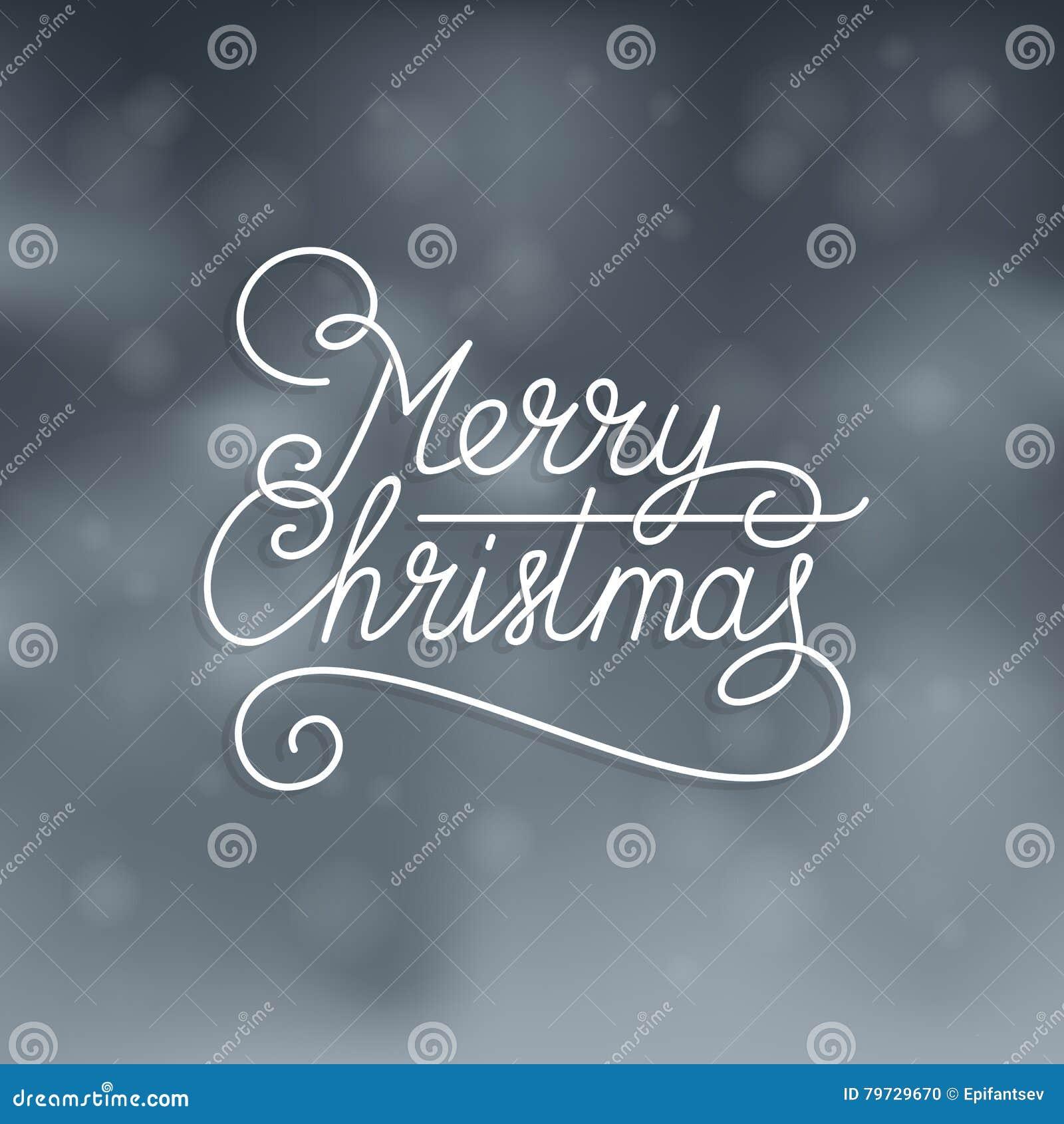 Texto de la Feliz Navidad en el fondo nevoso