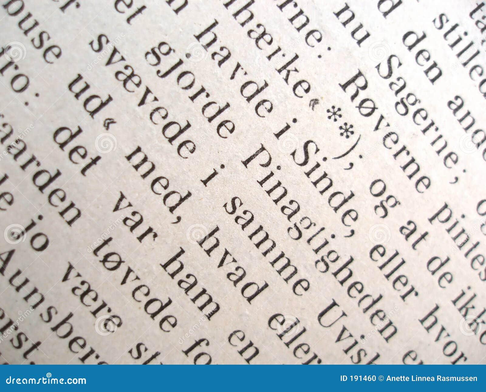 Texto de un libro viejo