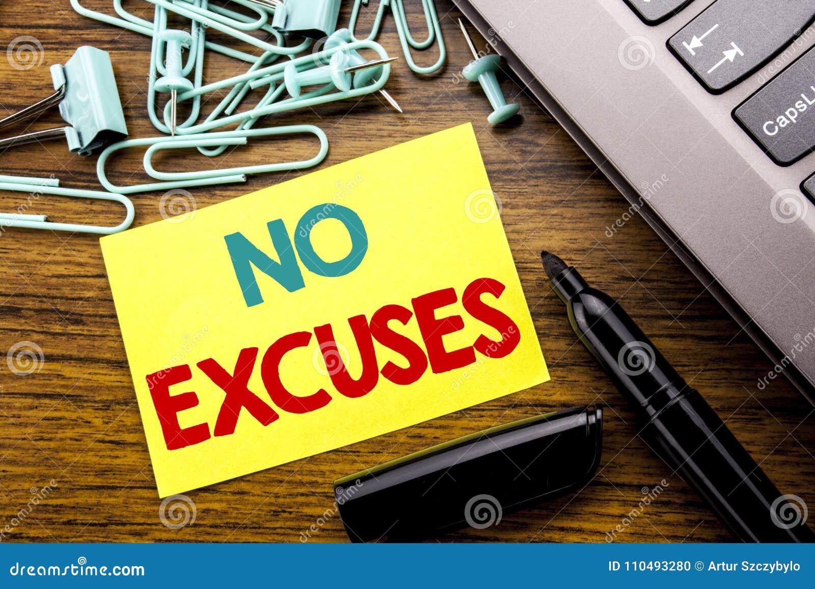 Texto del aviso de la escritura que no muestra ninguna excusa Concepto del negocio para la prohibición de la parada para la excus