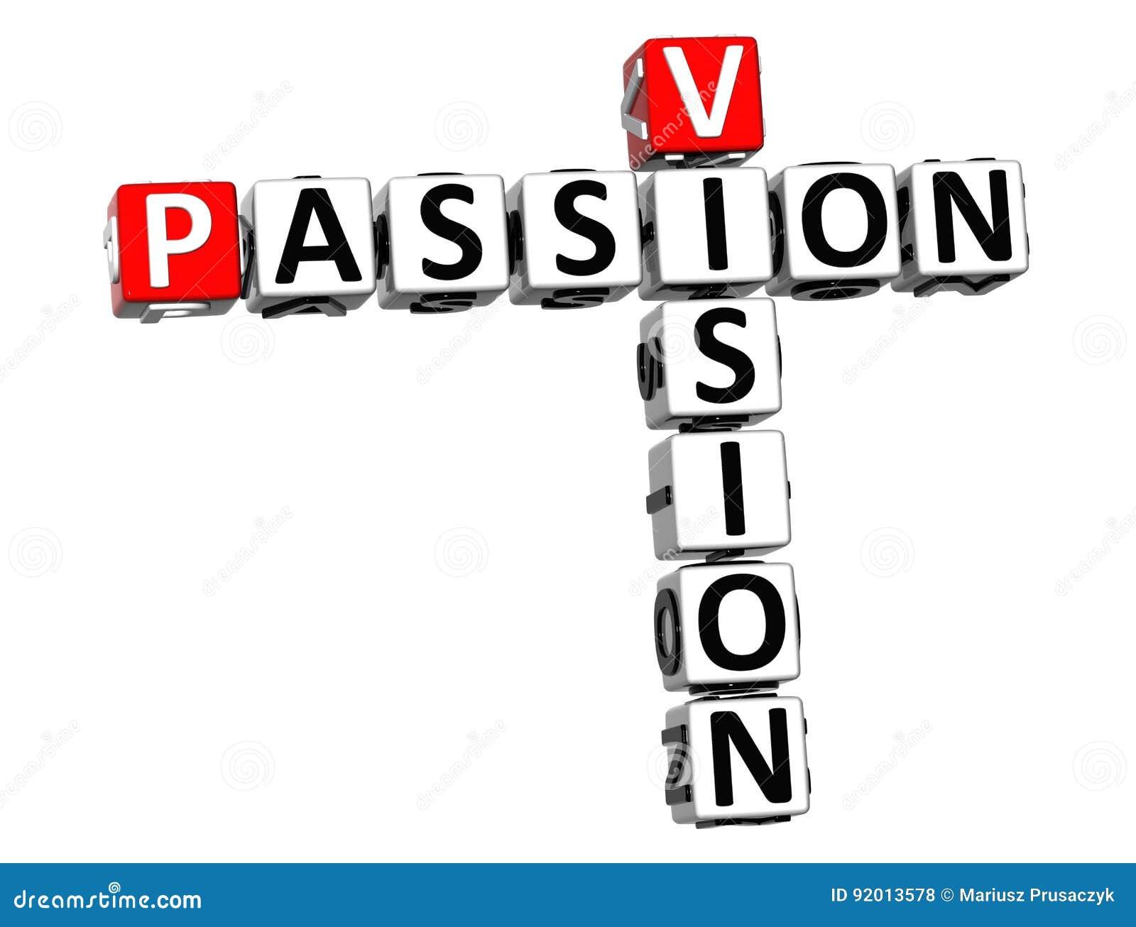 Texto del crucigrama de la pasión de 3D Vision