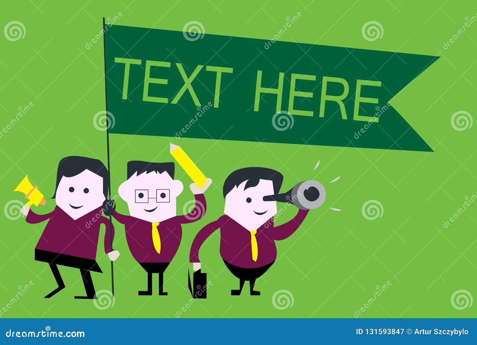 Texto del texto de la escritura aquí Concepto que significa el espacio en blanco para poner la plantilla expresa de las sensacion