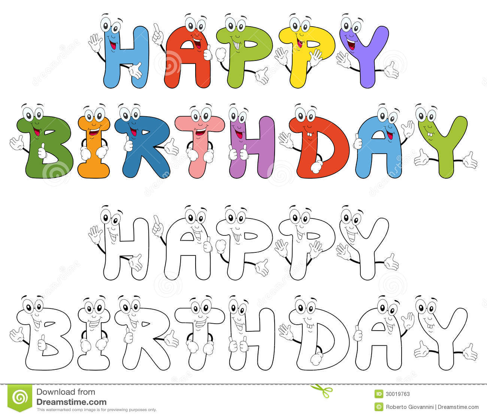 Letras de la historieta del feliz cumpleaños