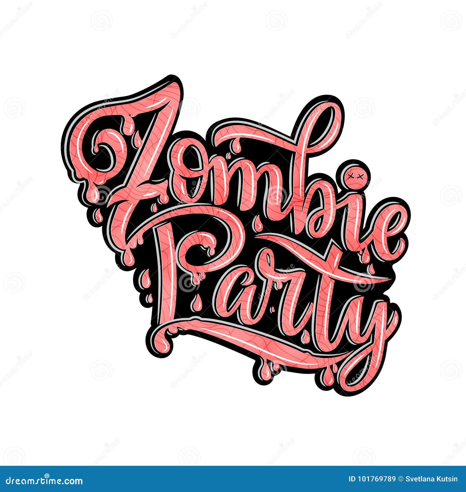 Texto Del Partido Del Zombi Para La Invitación Del Partido