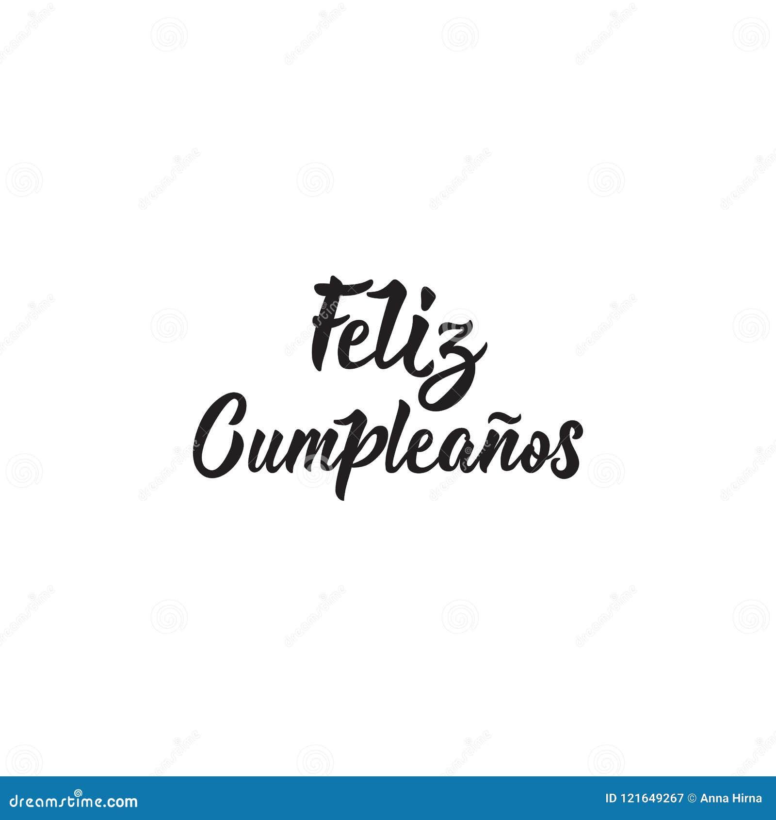 Texto En Espanol Feliz Cumpleanos Ejemplo Del Vector De La