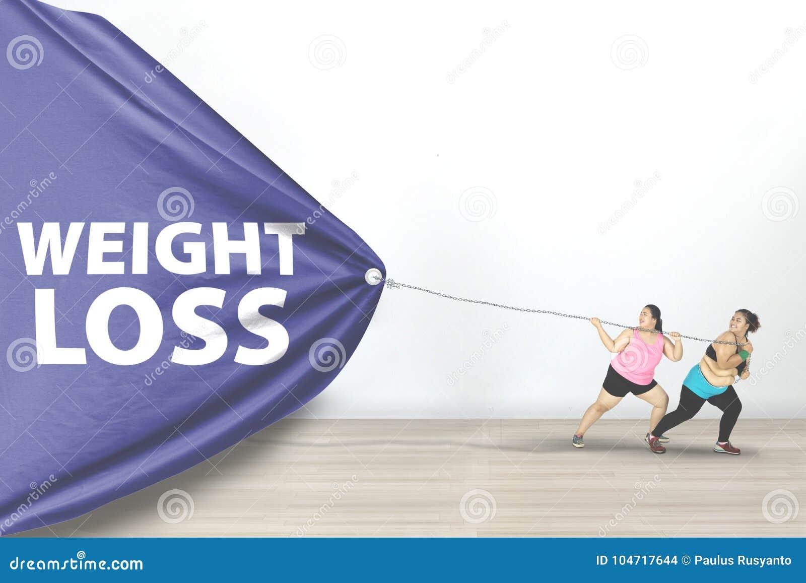Texto excesso de peso da perda de peso do arrasto das mulheres