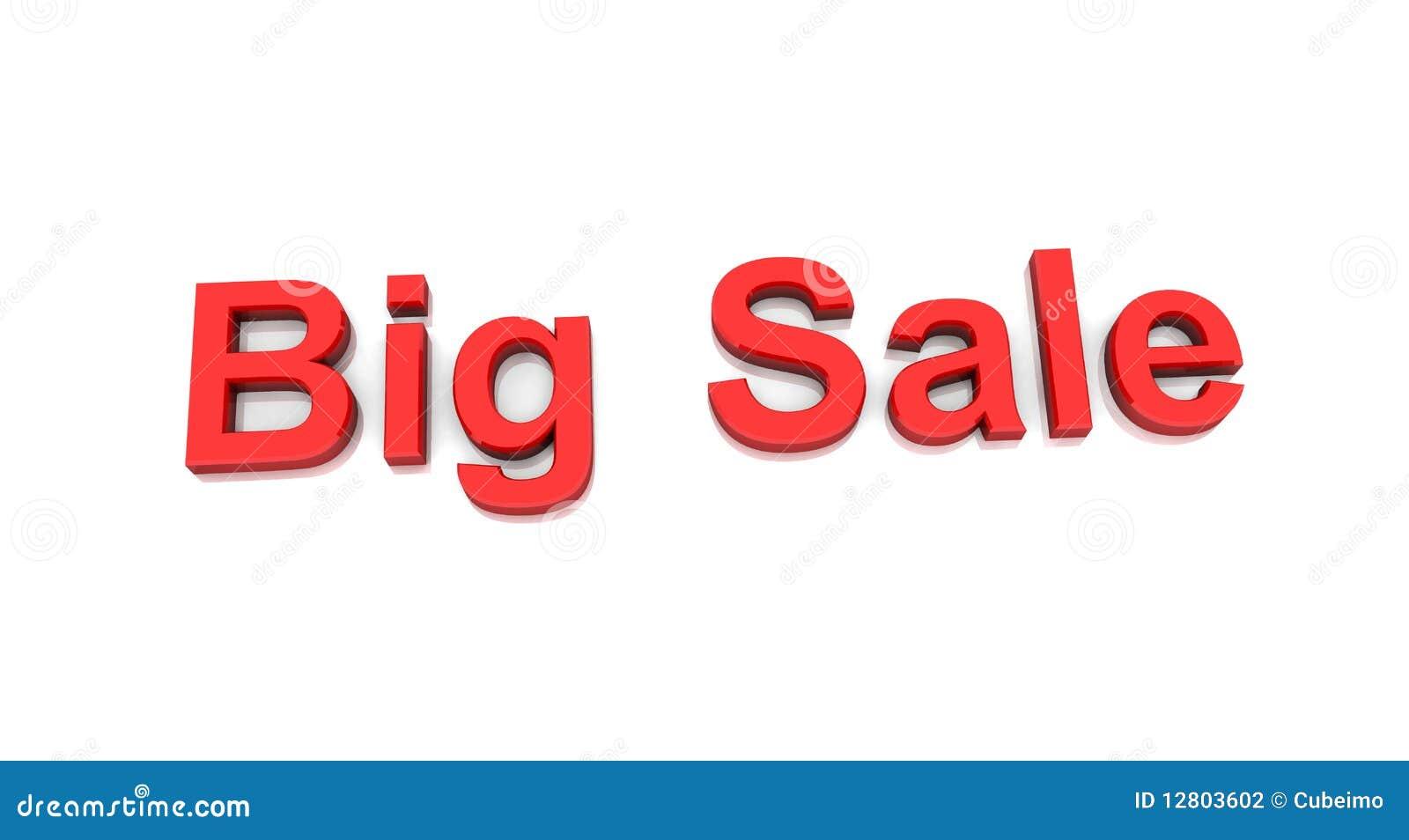Texto grande da venda