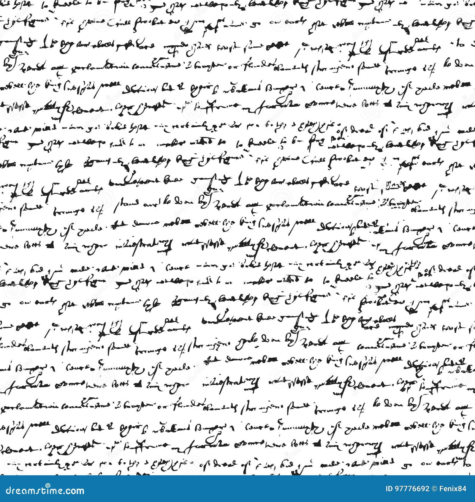 Texto manuscrito inclinado ilegible