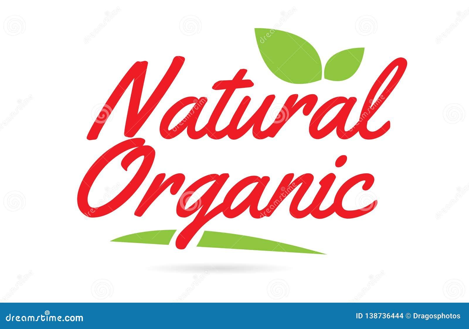 Texto orgánico natural de la palabra escrita de la mano para el diseño de la tipografía en rojo