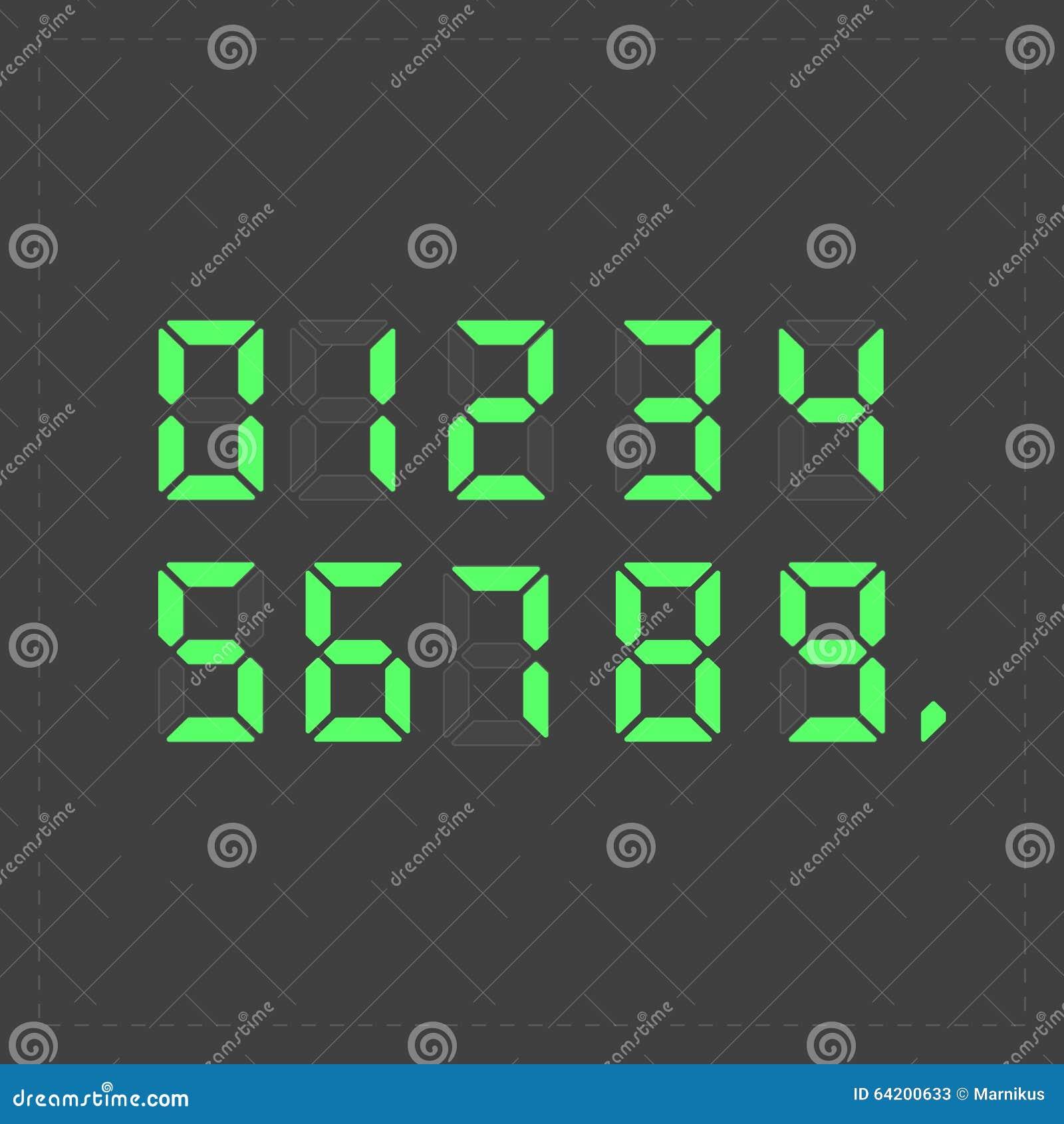 Texto verde digital de la calculadora