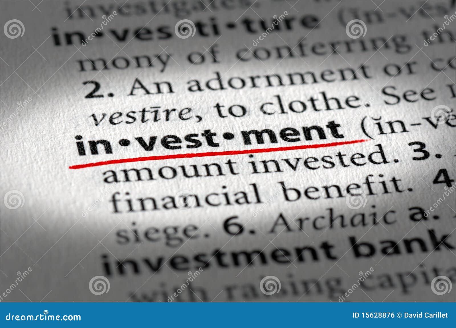 Texto y definición de la inversión