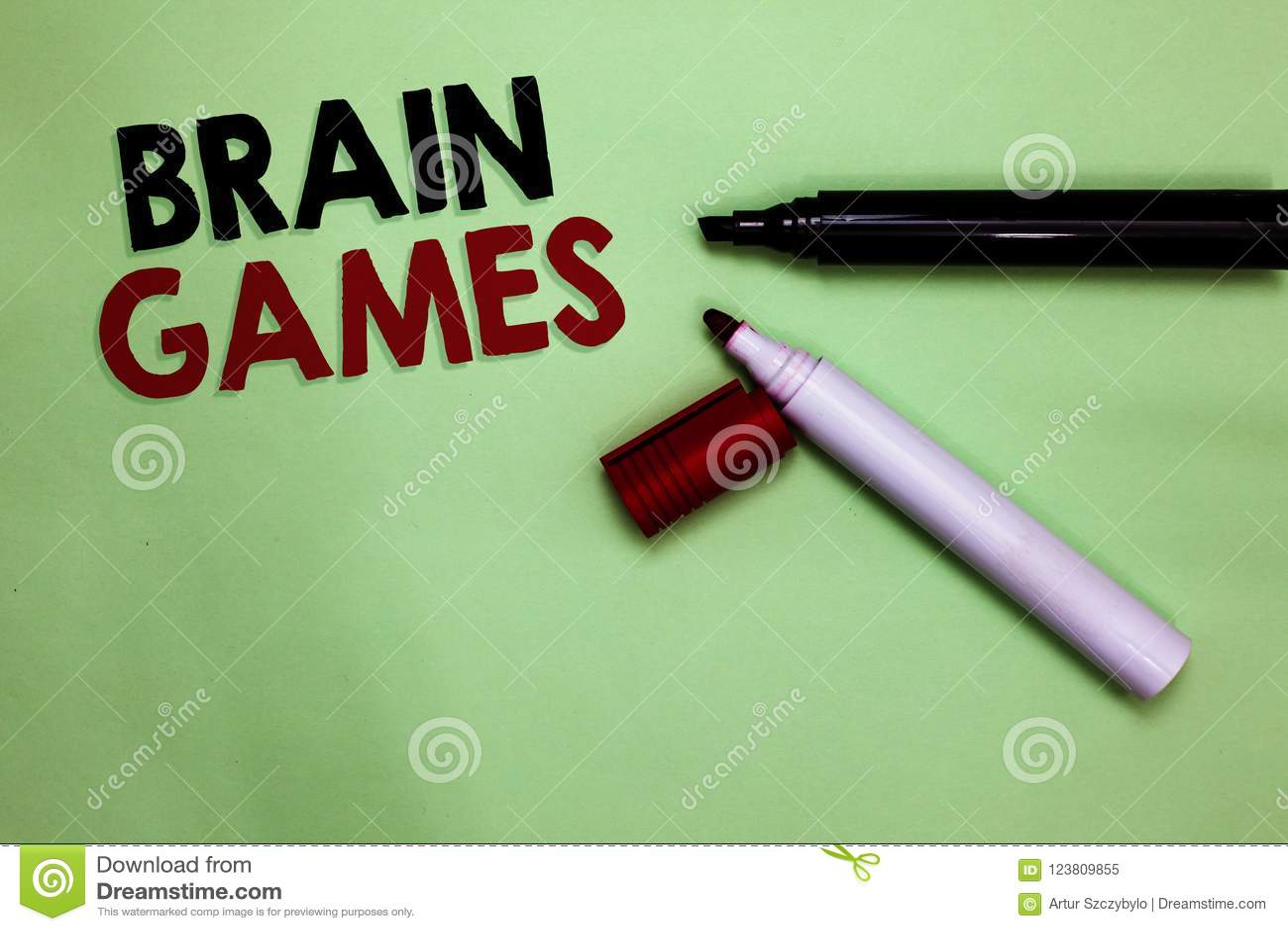 Texttecken som visar Brain Games Psykologisk taktik för begreppsmässigt foto som ska behandlas eller skrämmas med öppna markörer