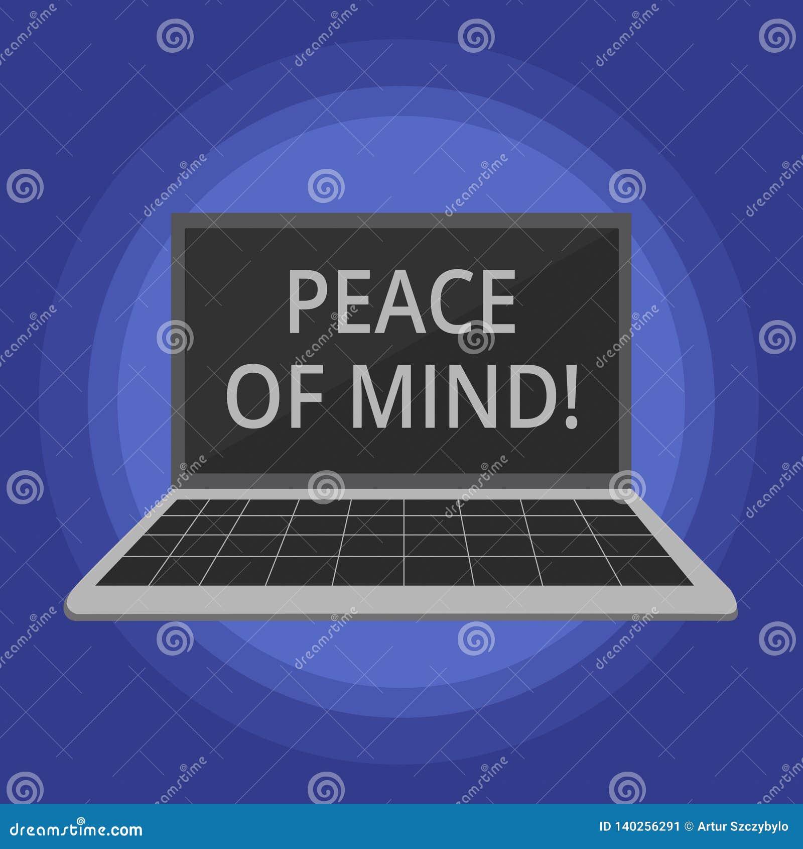 Texttecken som visar fred av meningen Begreppsmässigt foto som är fridsamt lyckligt med saker som du har gjort och utför
