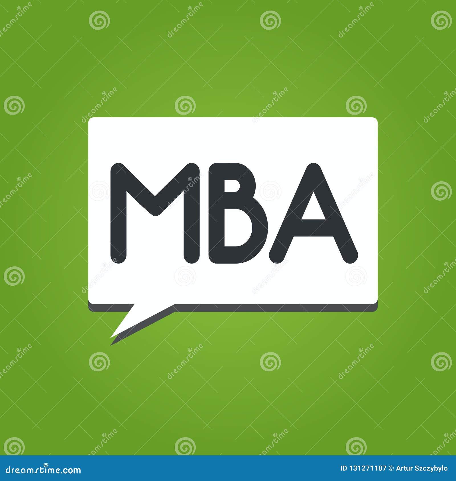 Texttecken som visar Mba Avancerad grad för begreppsmässigt foto i affärsfält liksom administration och marknadsföring