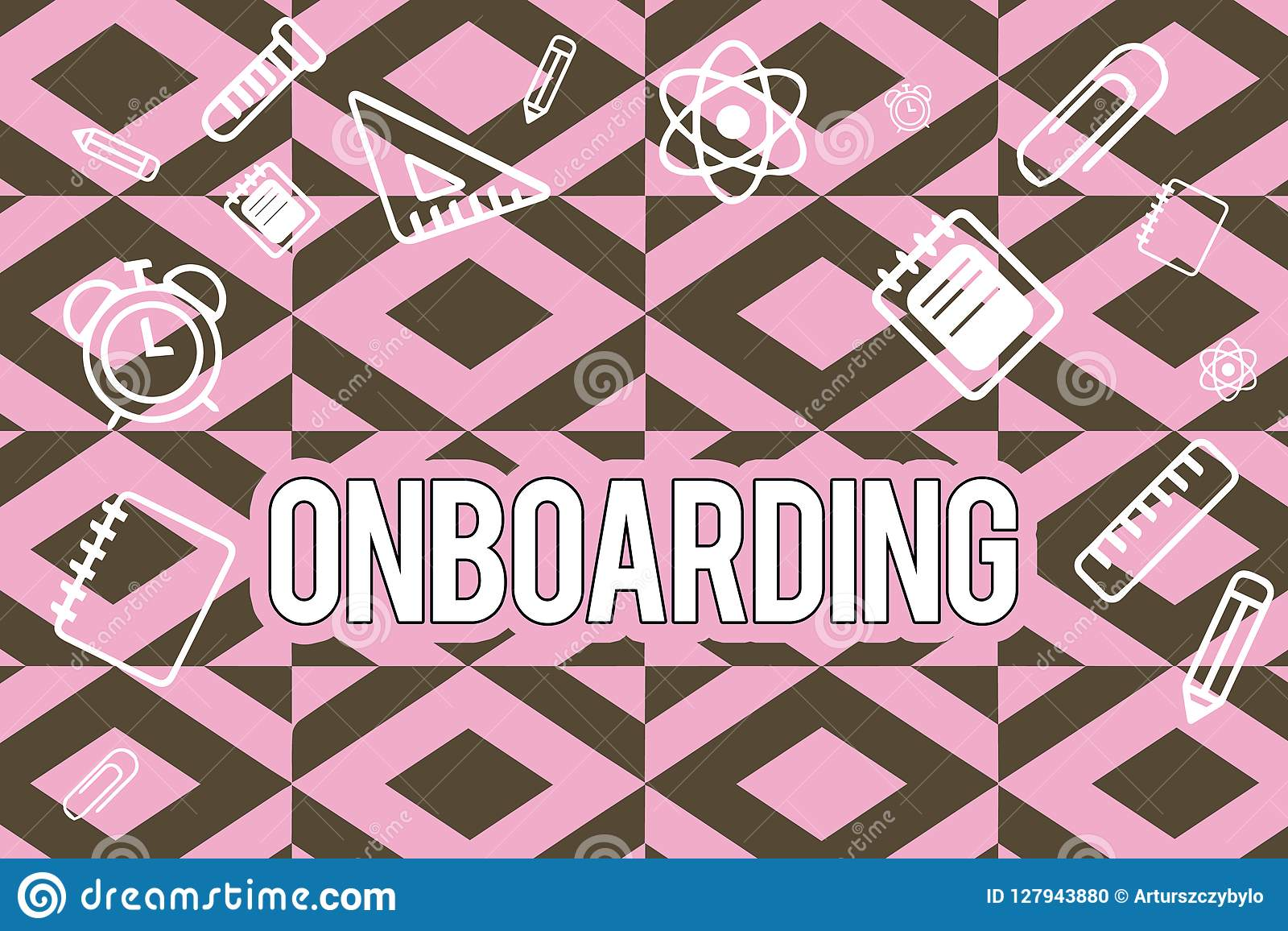 Texttecken som visar Onboarding Begreppsmässig fotohandlingprocess av att integrera ny anställd in i en organisation