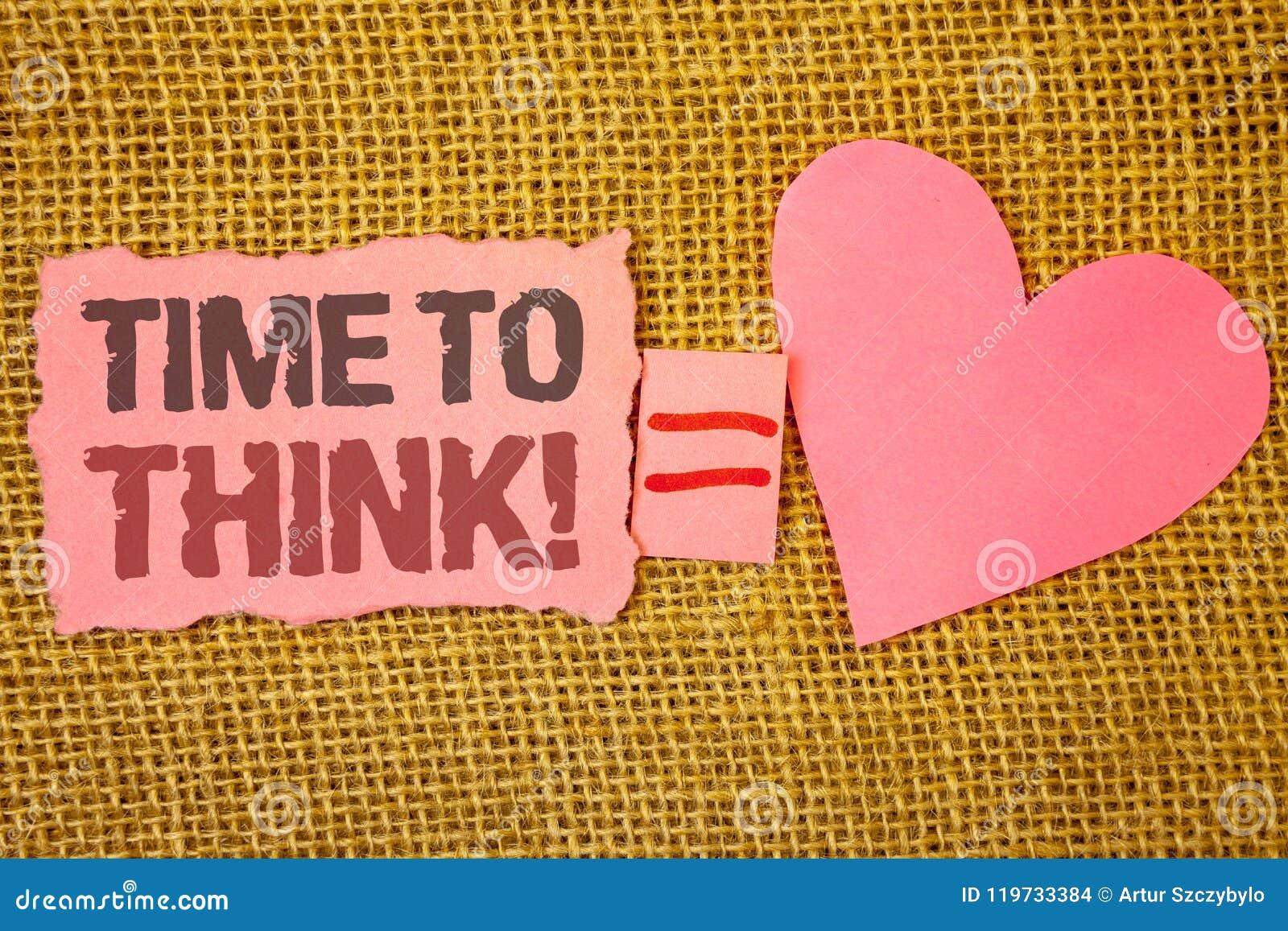 Textteckenvisning Tid som tänker Motivational appell Smsar tänkande planläggningsidéer för det begreppsmässiga fotoet som svarar