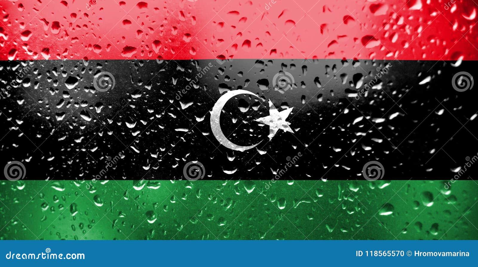 Textur av den Libyen flaggan