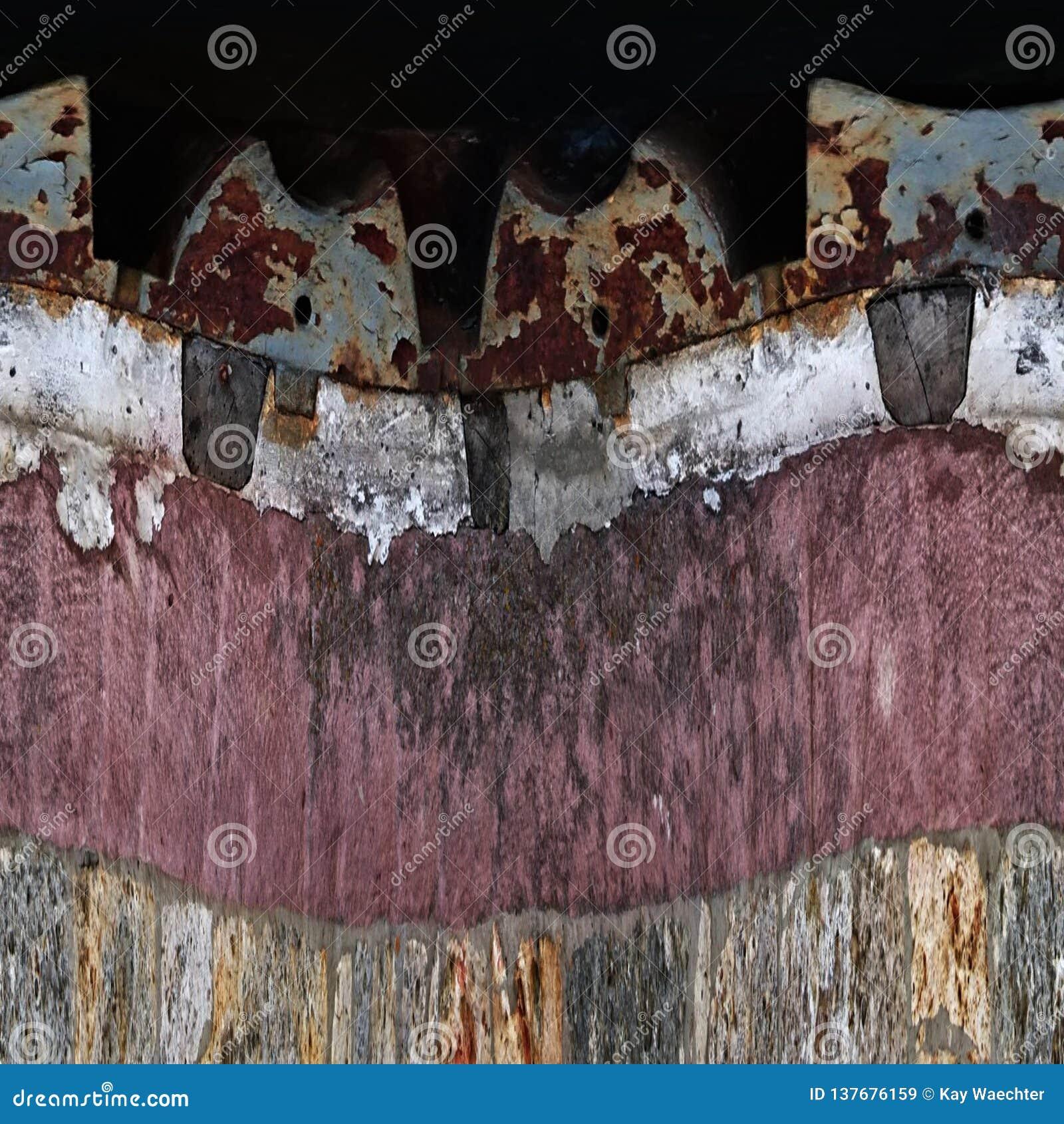 Textur av en kvarnsten