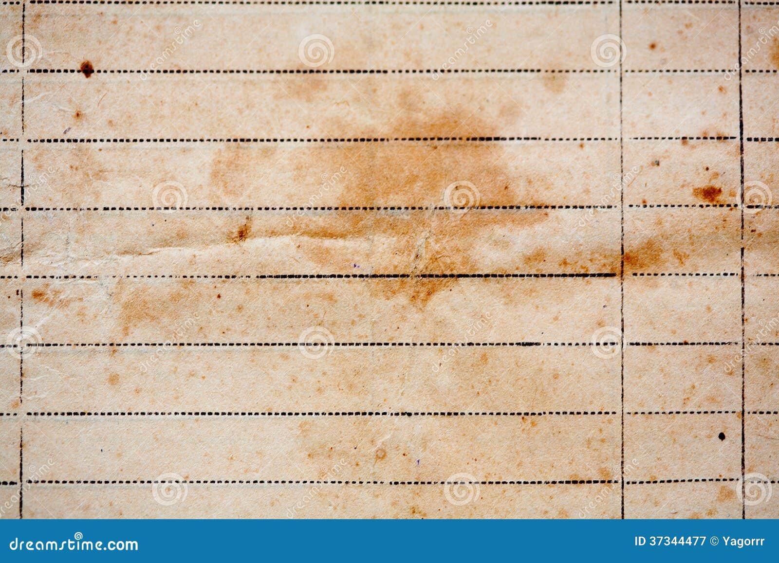 Textur av gammalt fodrat gulingpapper