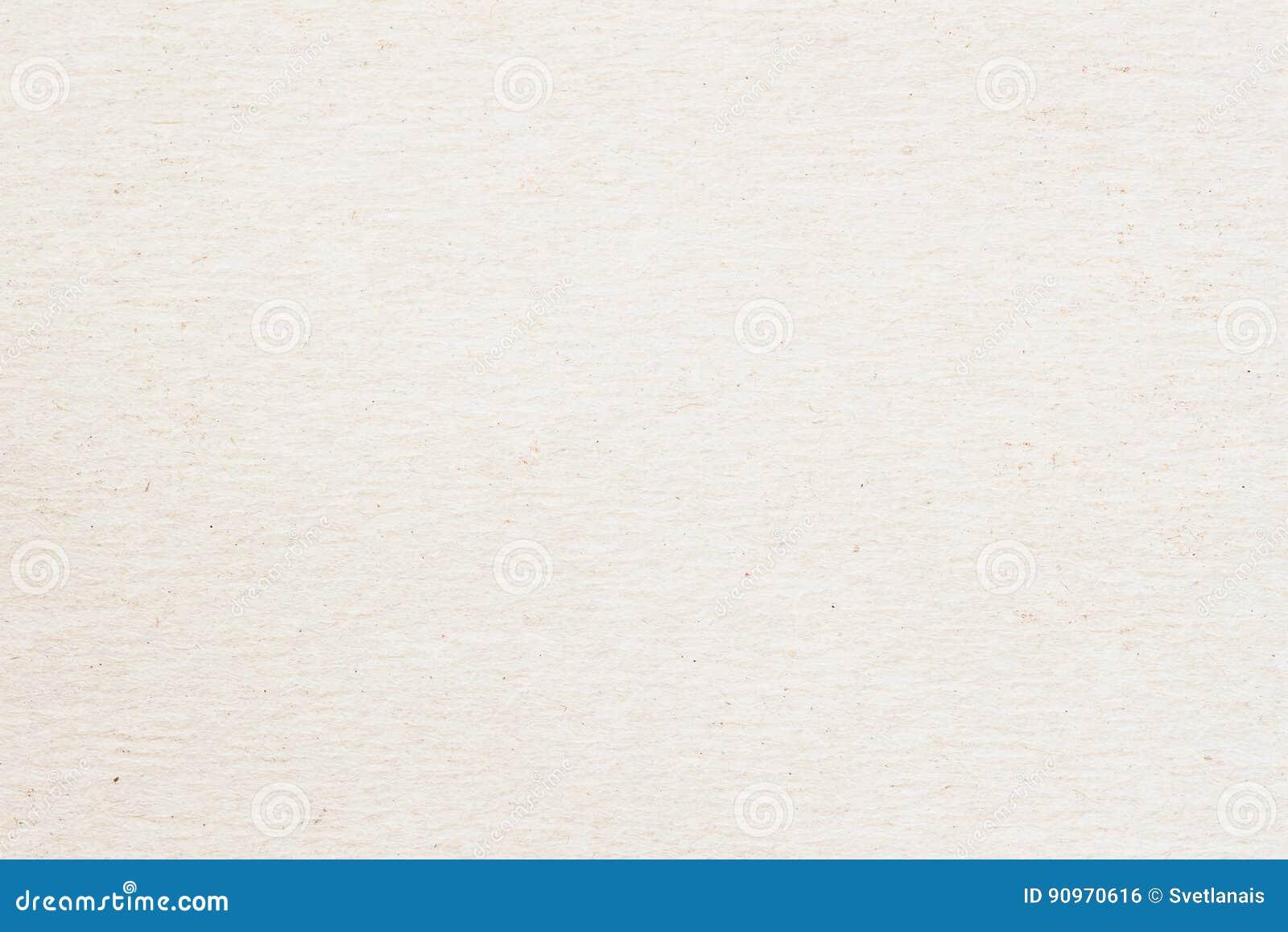 Textur av gammalt organiskt papper för ljus kräm, bakgrund för design med kopieringsutrymmetext eller bild Återvinningsbart mater
