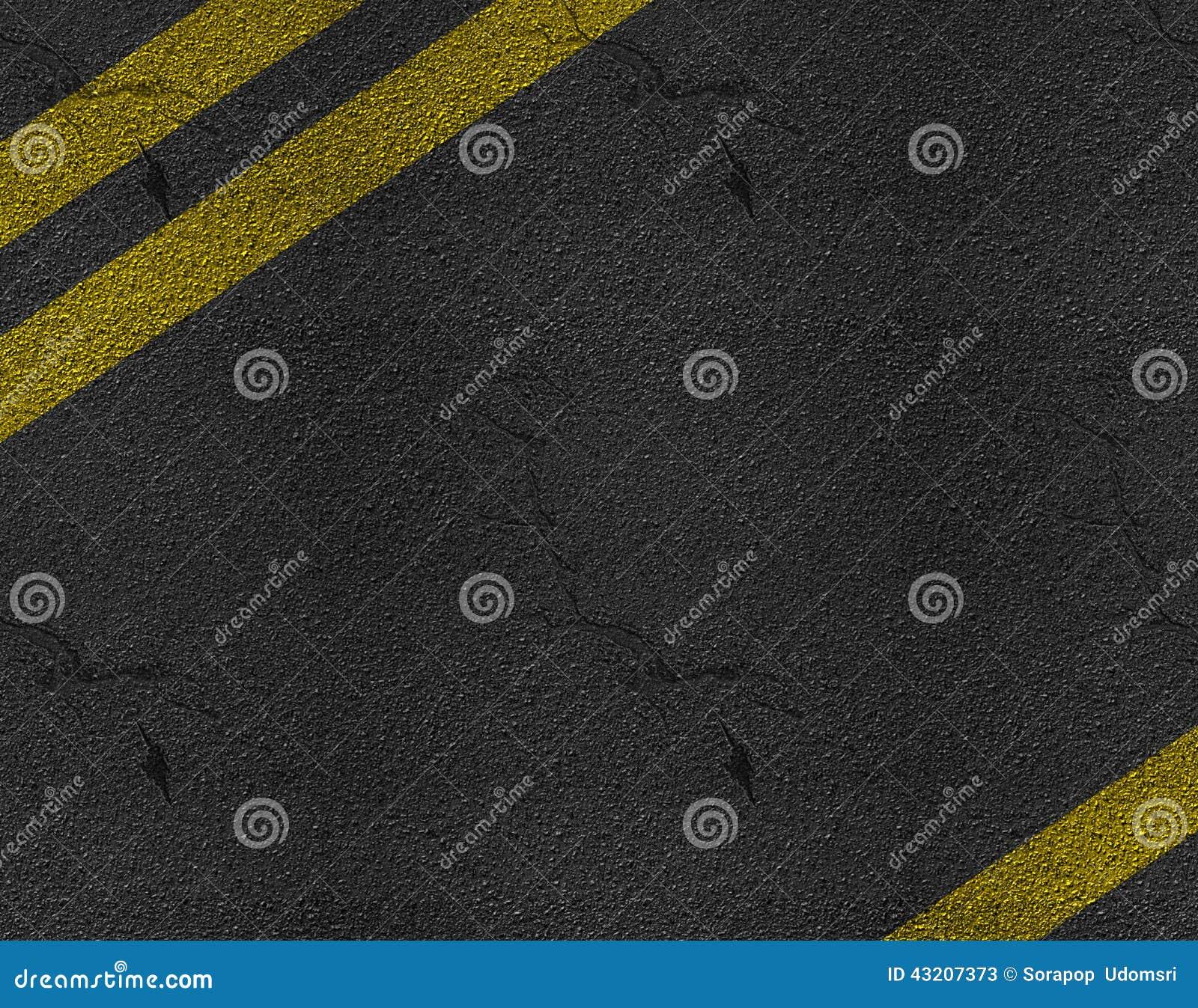 Download Textur För Asfalthuvudvägväg Fotografering för Bildbyråer - Bild av yellow, symboler: 43207373