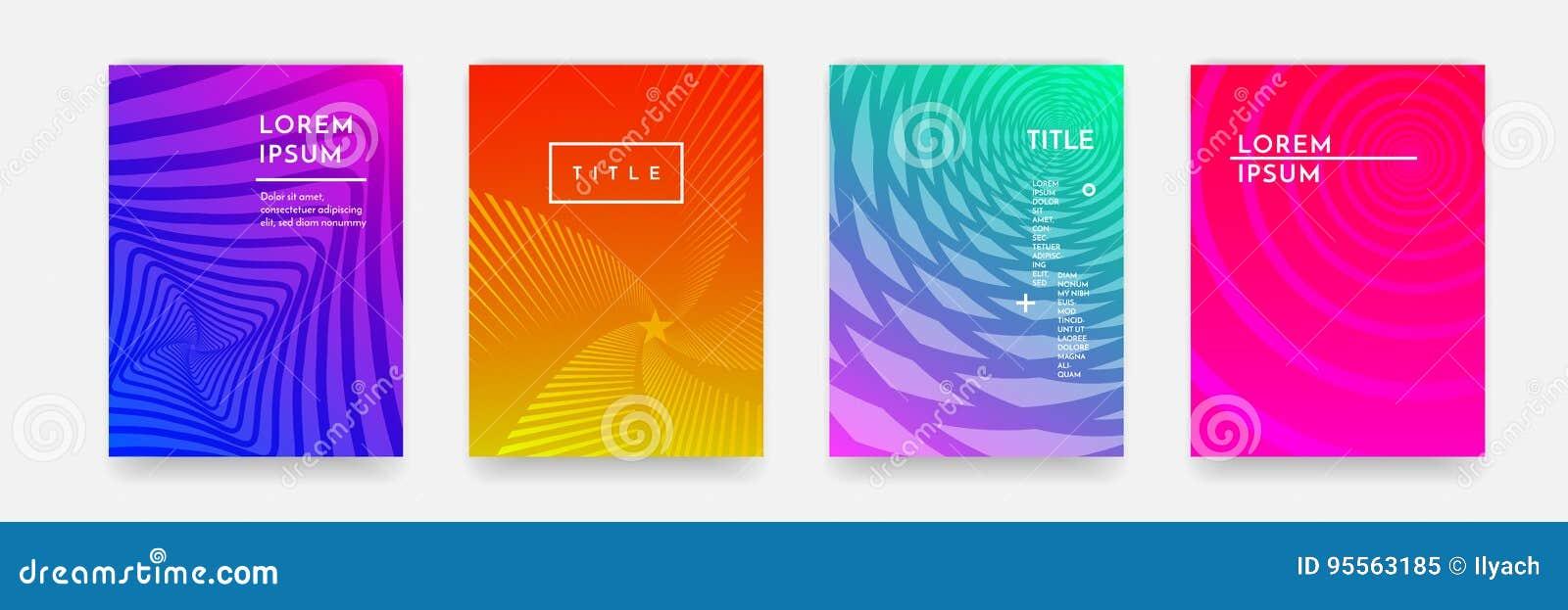 Textur för modell för färglutningabstrakt begrepp geometrisk för uppsättning för vektor för bokomslagmall