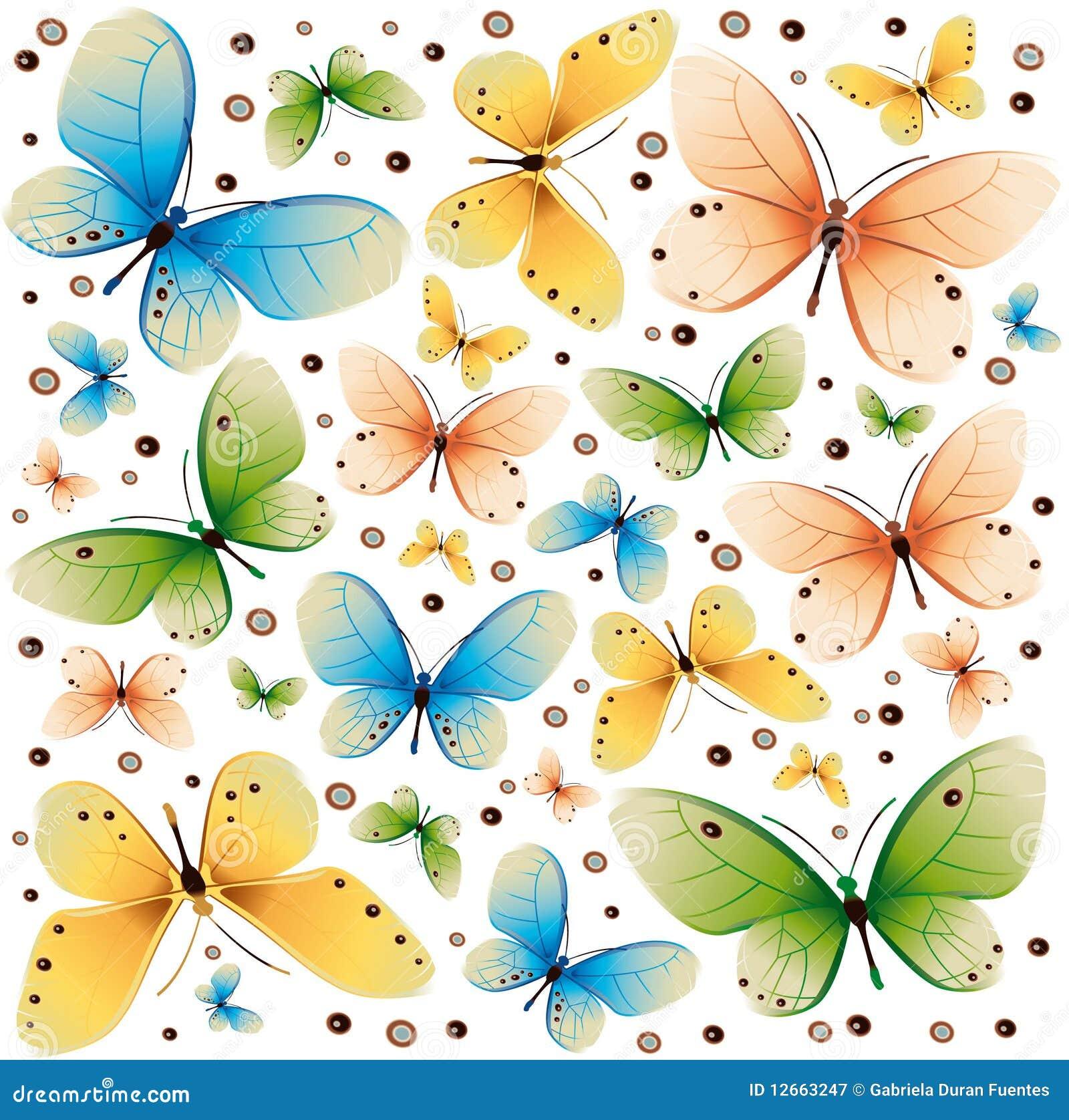 Textura 2 de los colores de las mariposas ilustraci n del - Imagenes de mariposas de colores ...