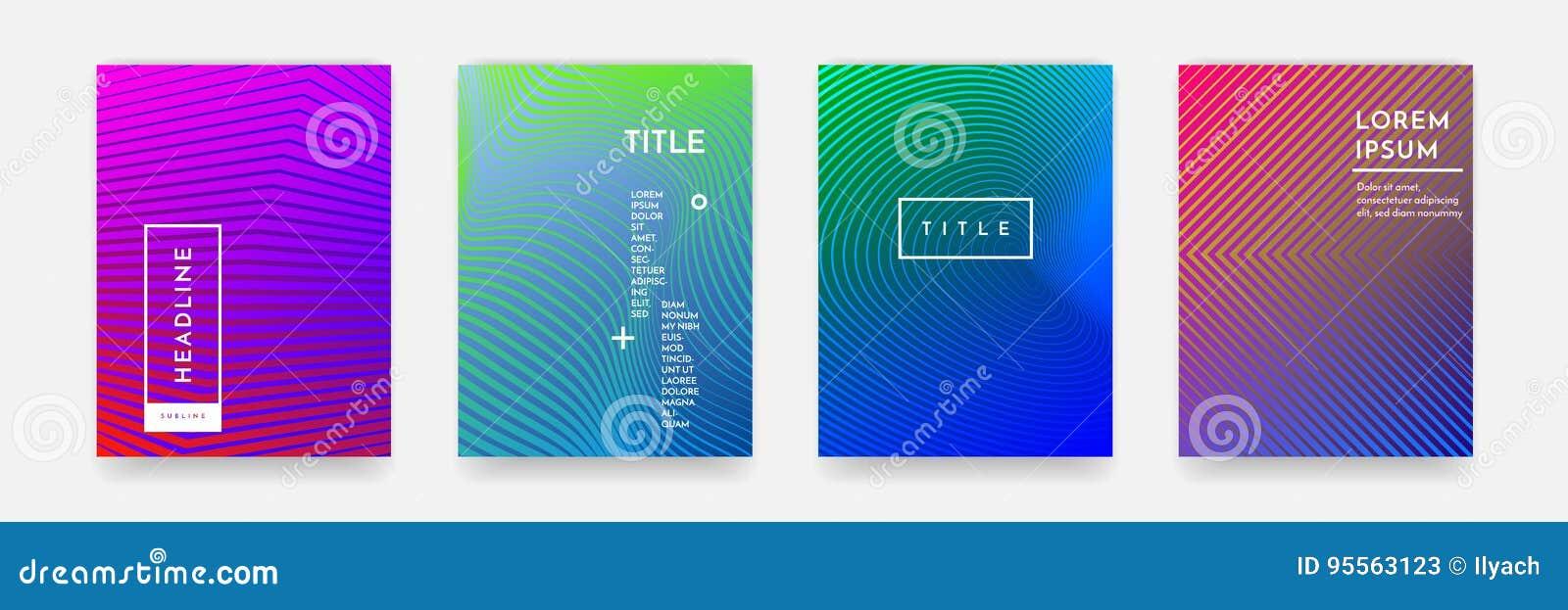Textura abstracta del modelo del color de la pendiente para el sistema del vector de la plantilla de la cubierta de libro