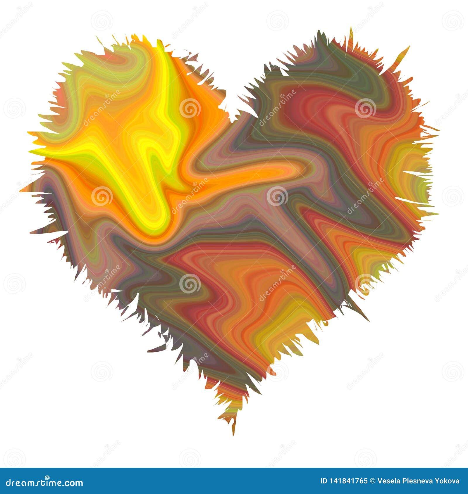 Textura abstrata do coração em cores macias pasteis de fluxo