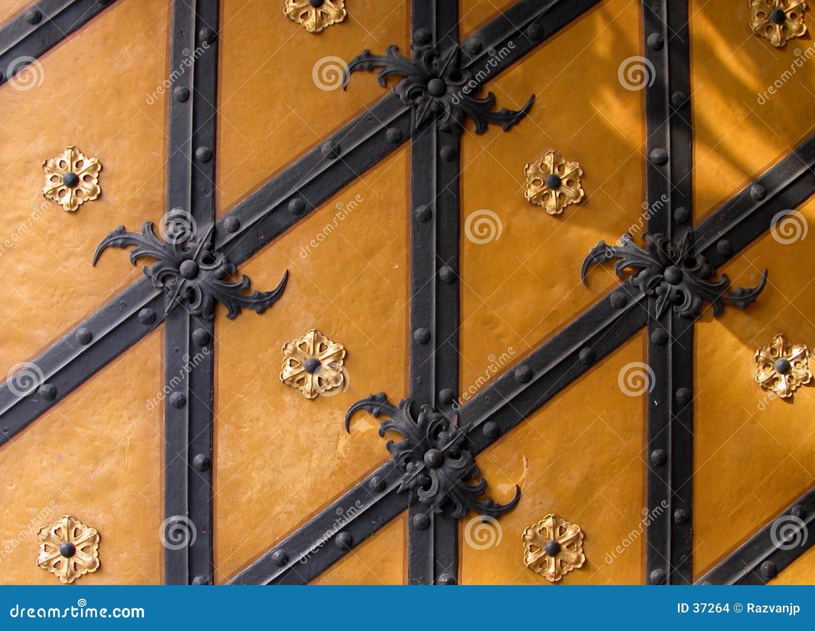 Textura alemana de la puerta
