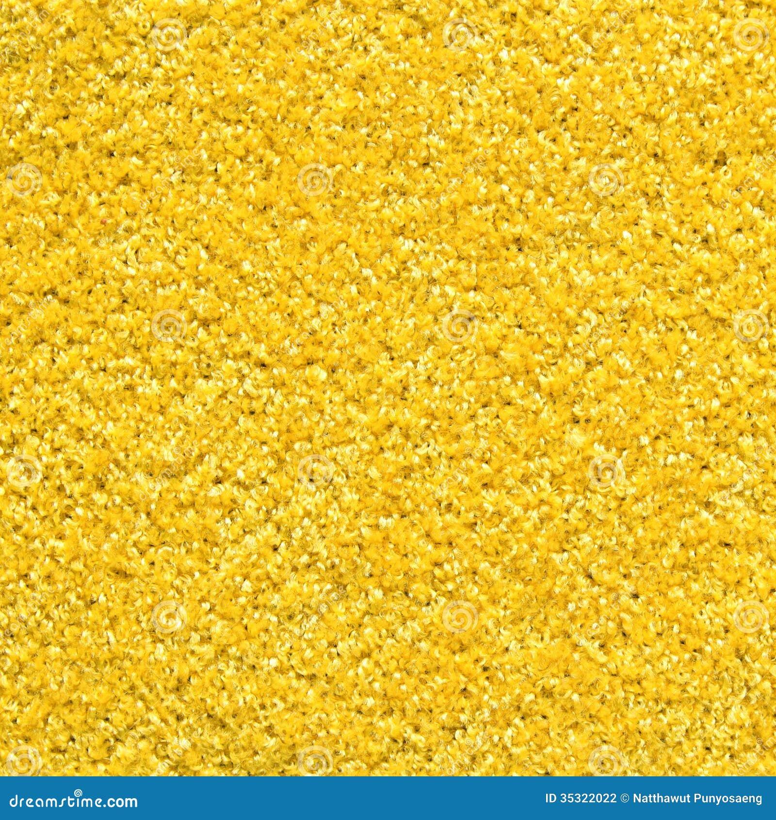 Textura amarilla de la alfombra