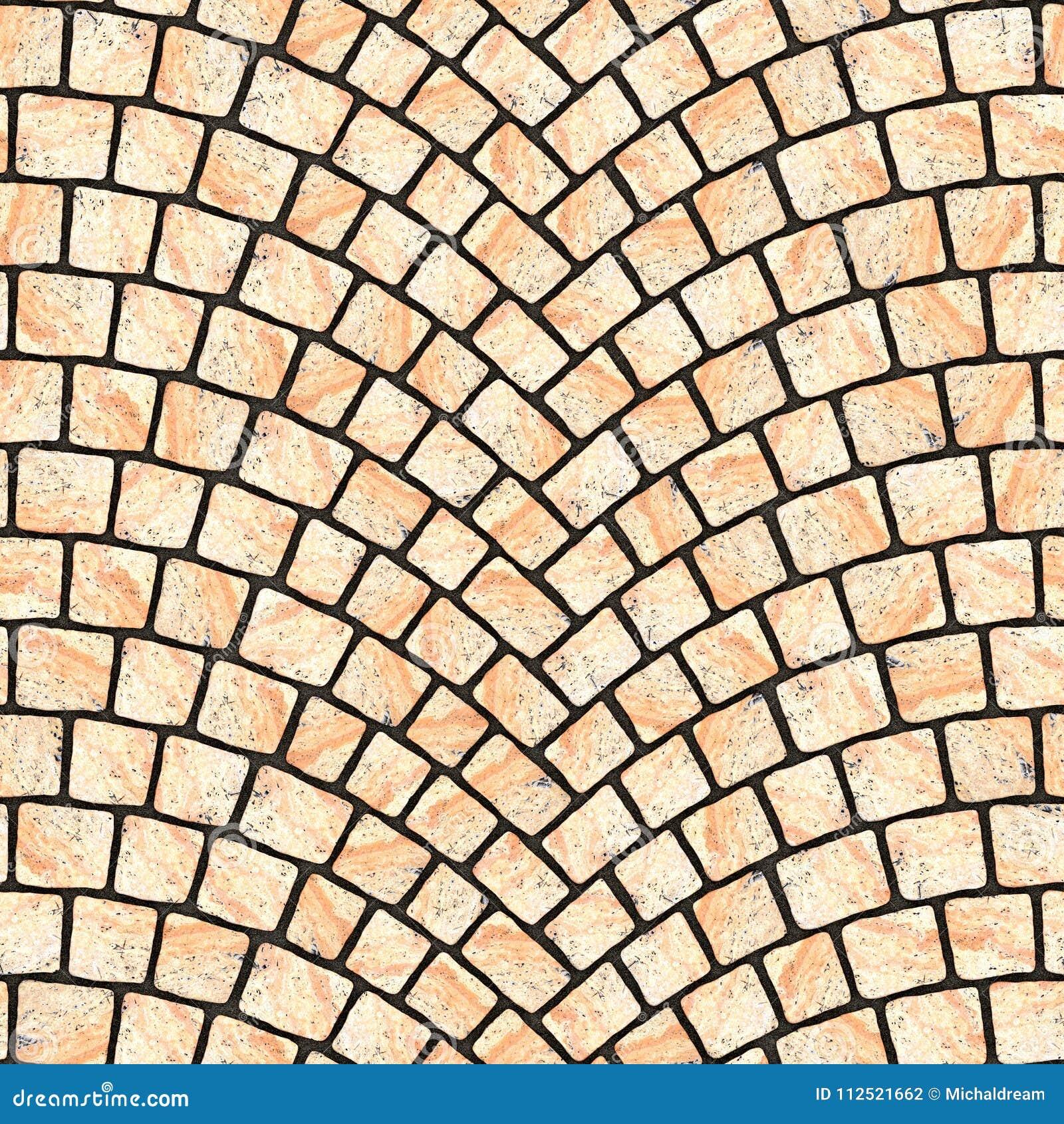 Textura arqueada 067 del pavimento del guijarro