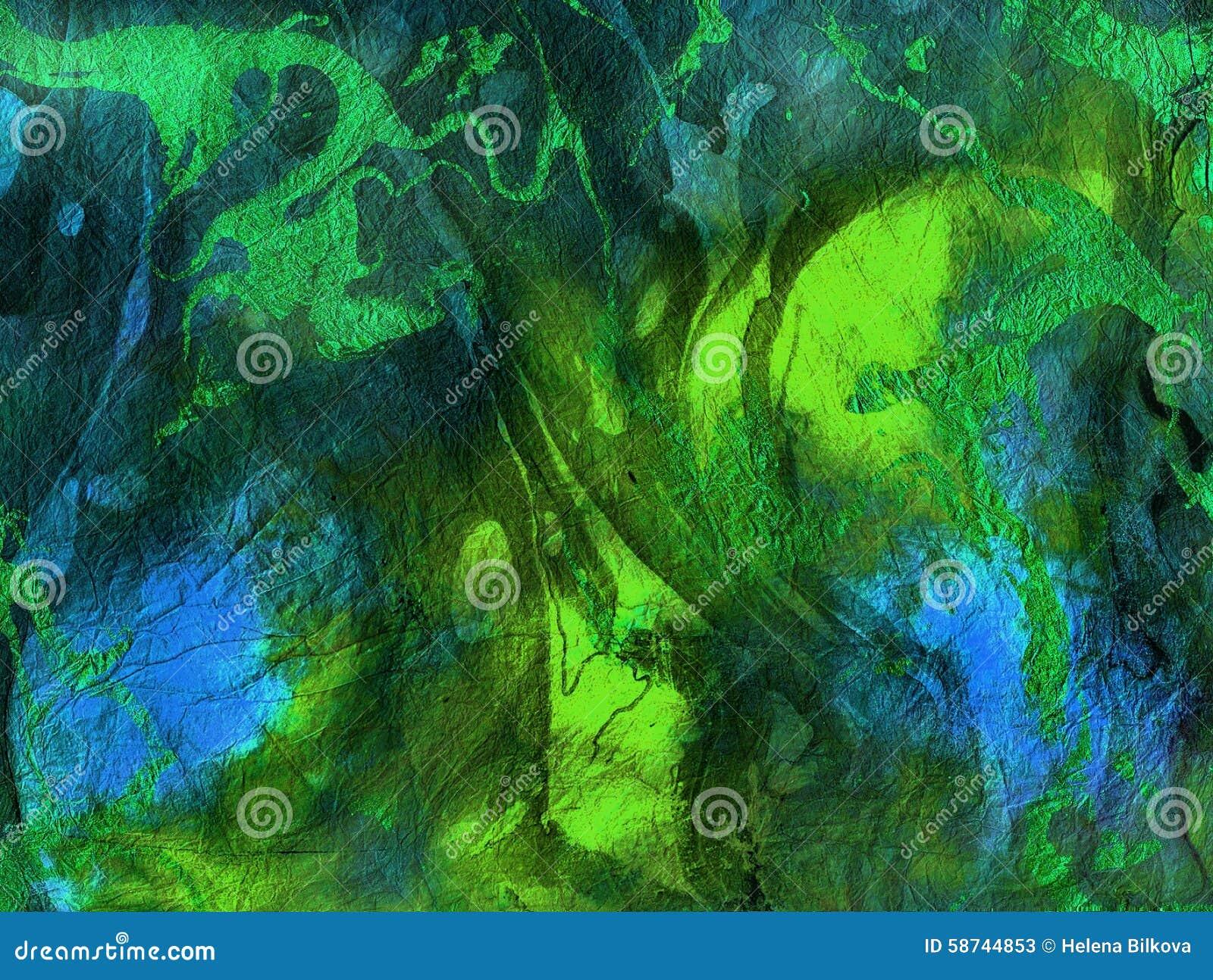 Textura azul verde vibrante abstrata, fundo