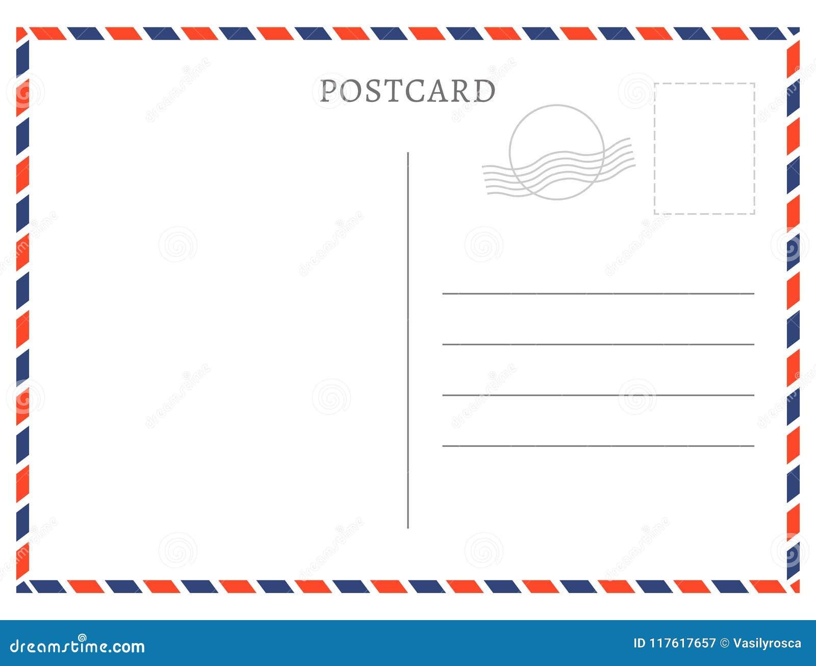 Textura Blanca Del Papel De La Plantilla De La Postal Vector El ...