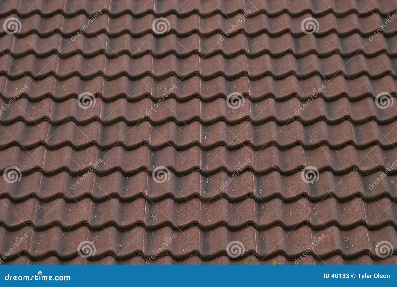 Textura cerâmica do telhado