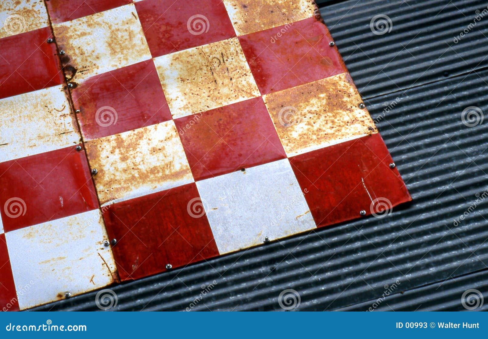 Textura Checkered 2 do estanho