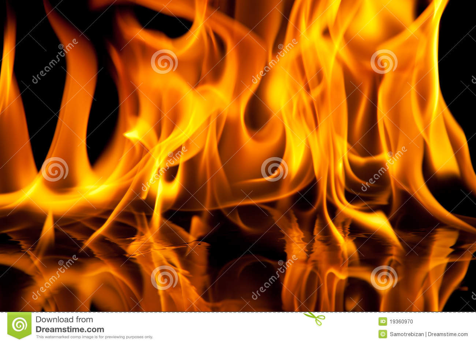 Textura da flama no fundo preto