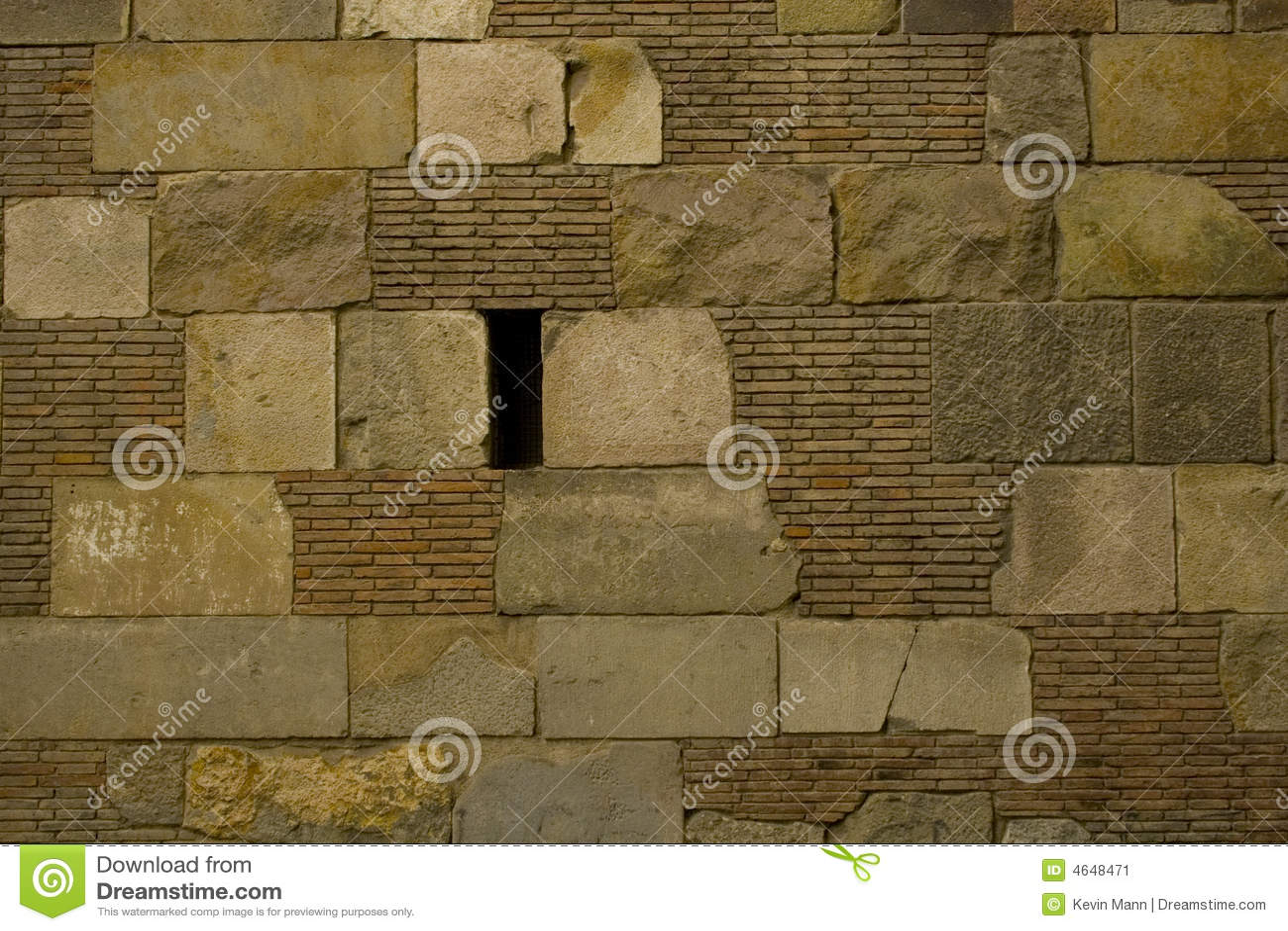 Textura da parede do bloco do tijolo e da pedra