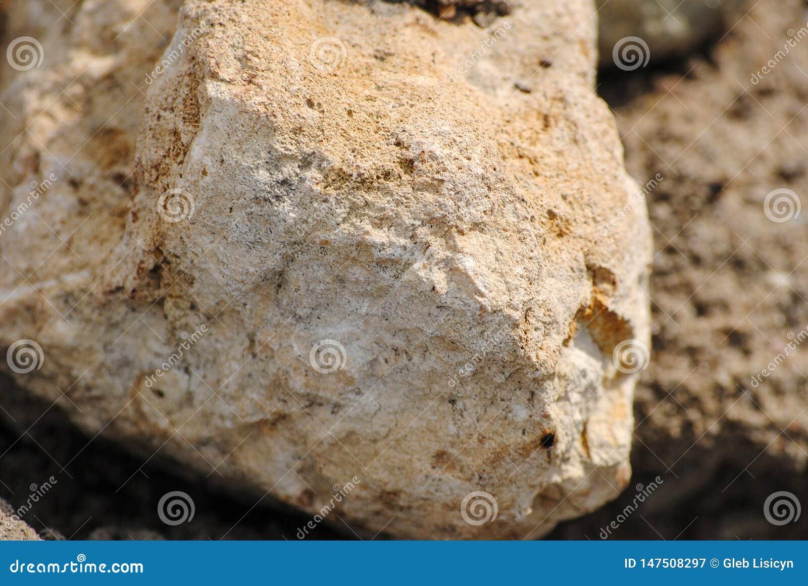 A textura da pedra
