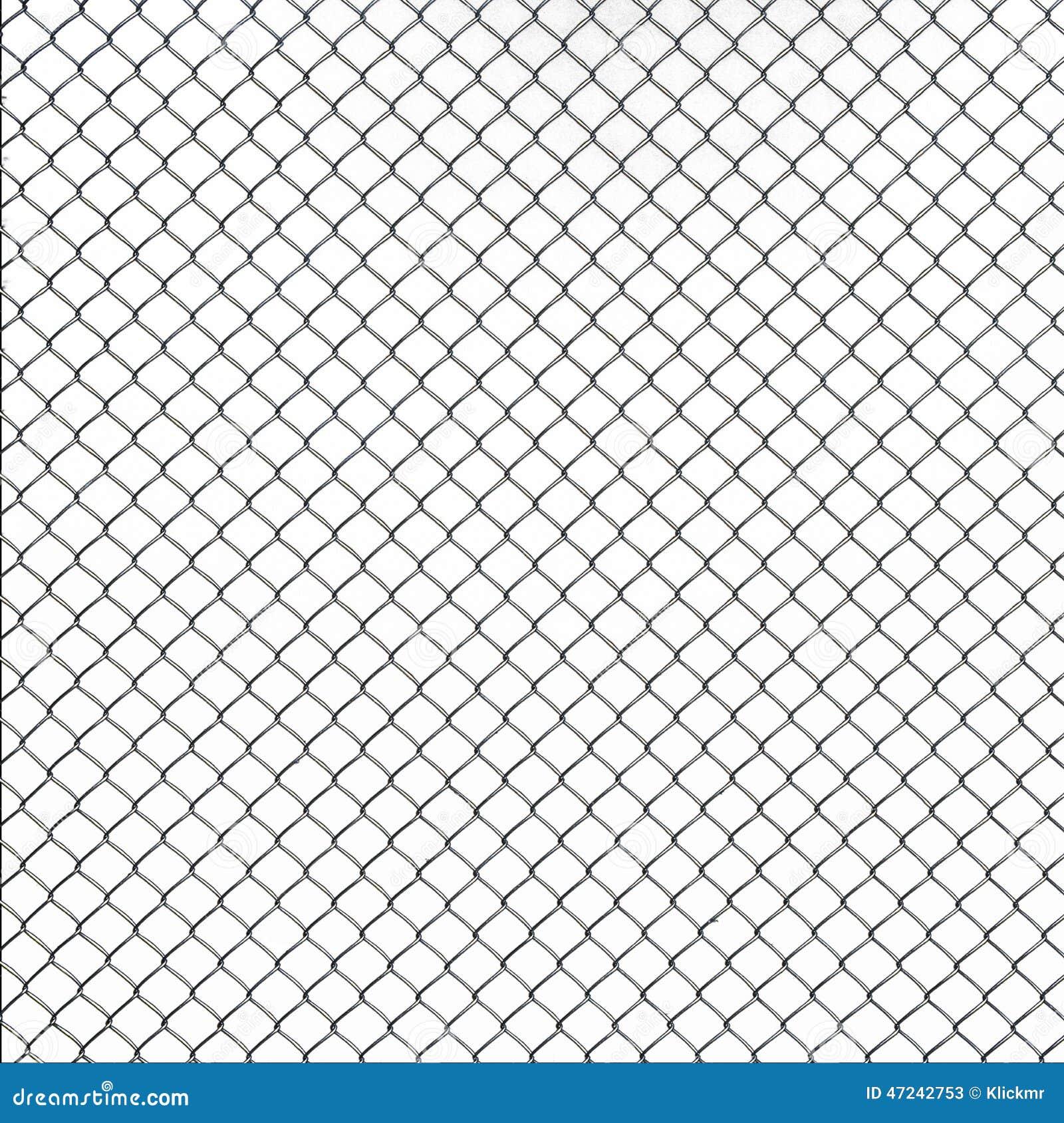 Textura Da Rede De Arame No Fundo Branco Foto De Stock
