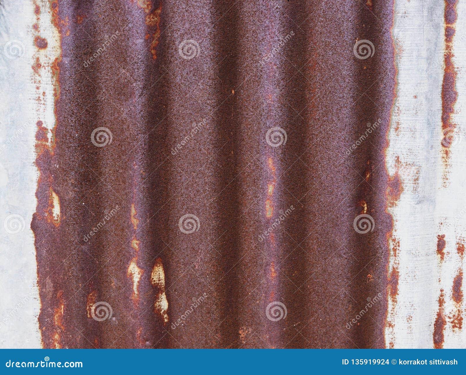 A textura da superfície velha do zinco galvanizou a oxidação, fundo oxidado do zinco