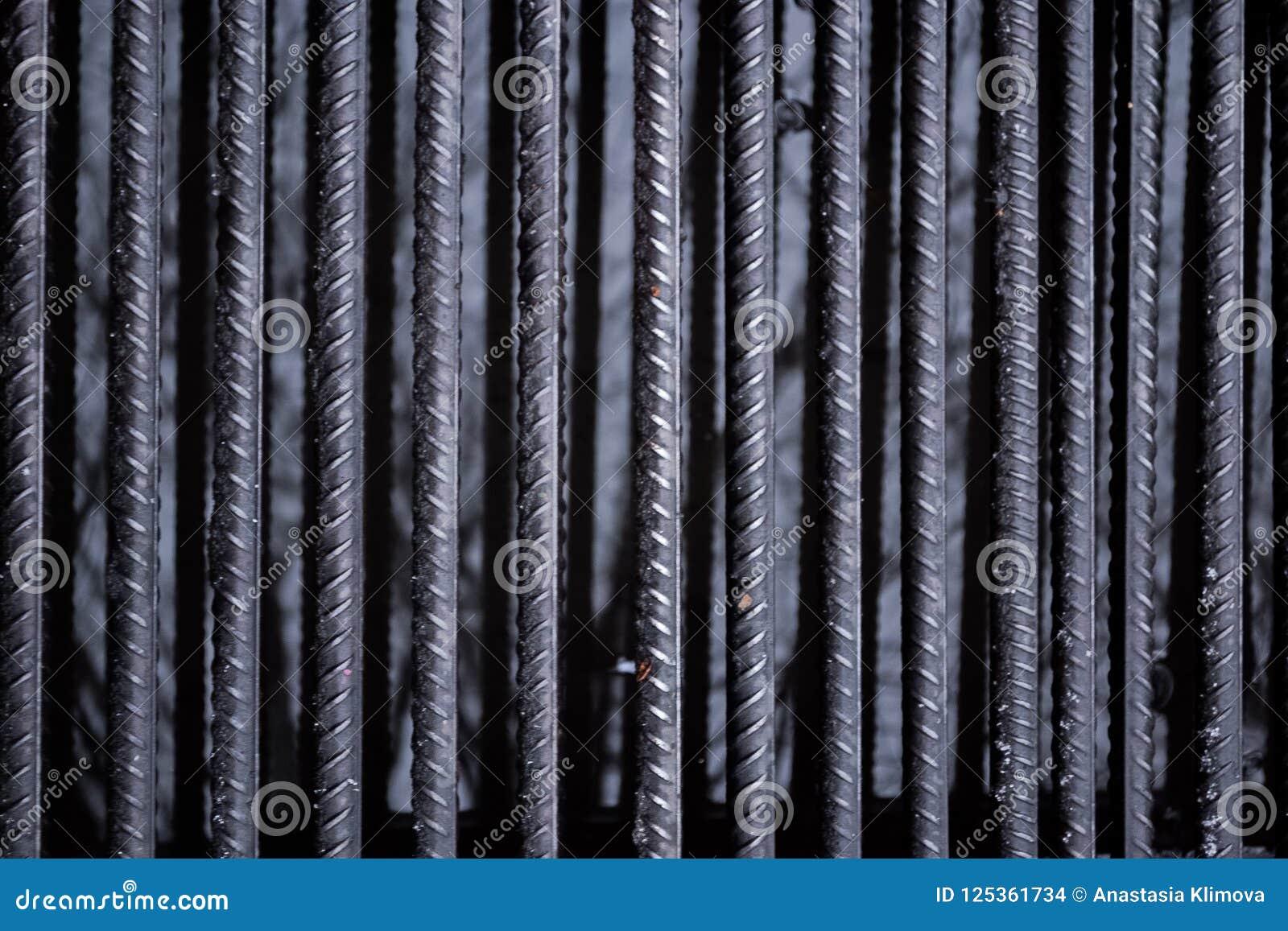A textura das barras de ferro