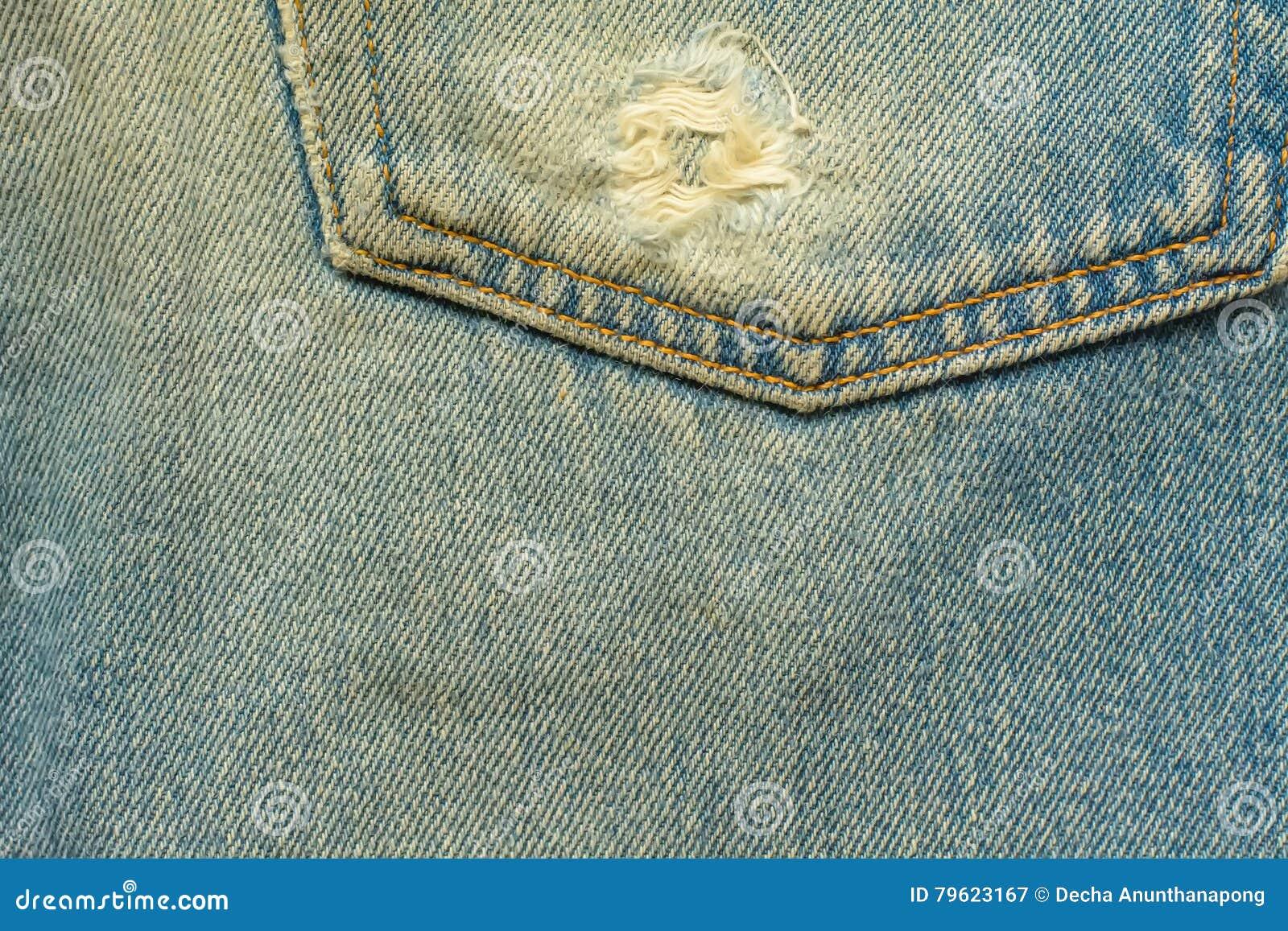 Textura das calças de brim
