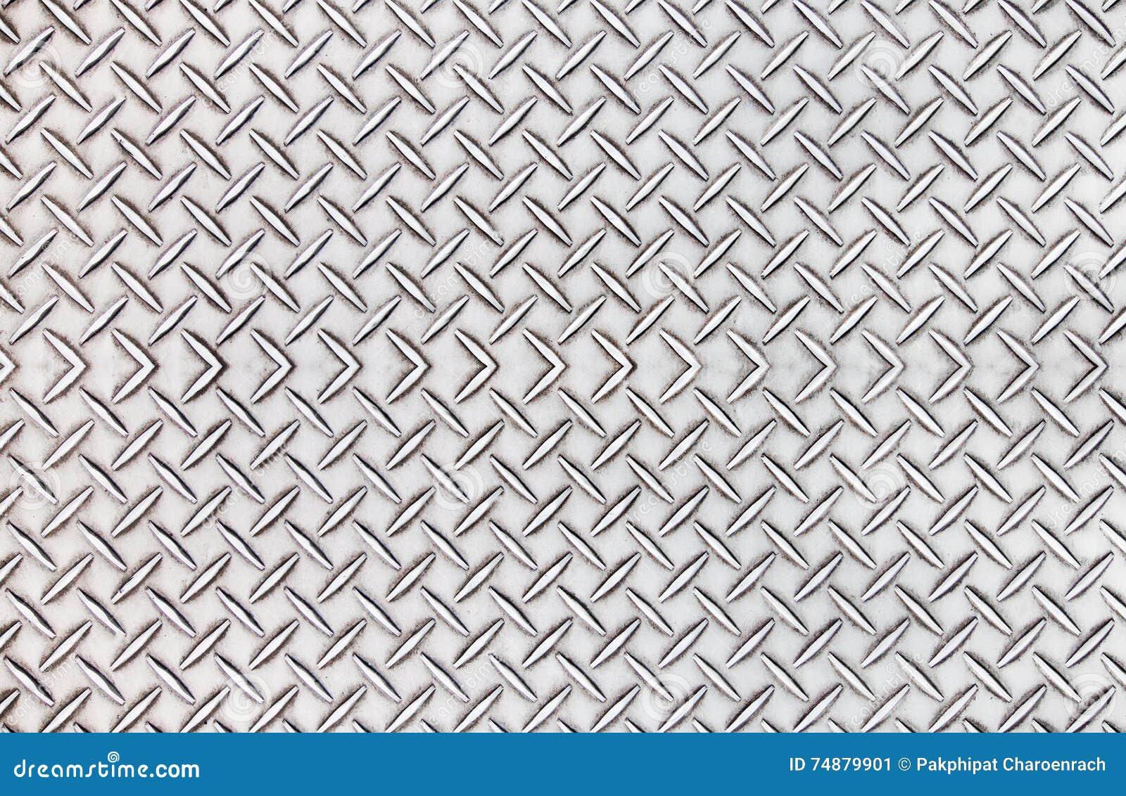 Textura de aço velha do fundo do teste padrão da placa do diamante