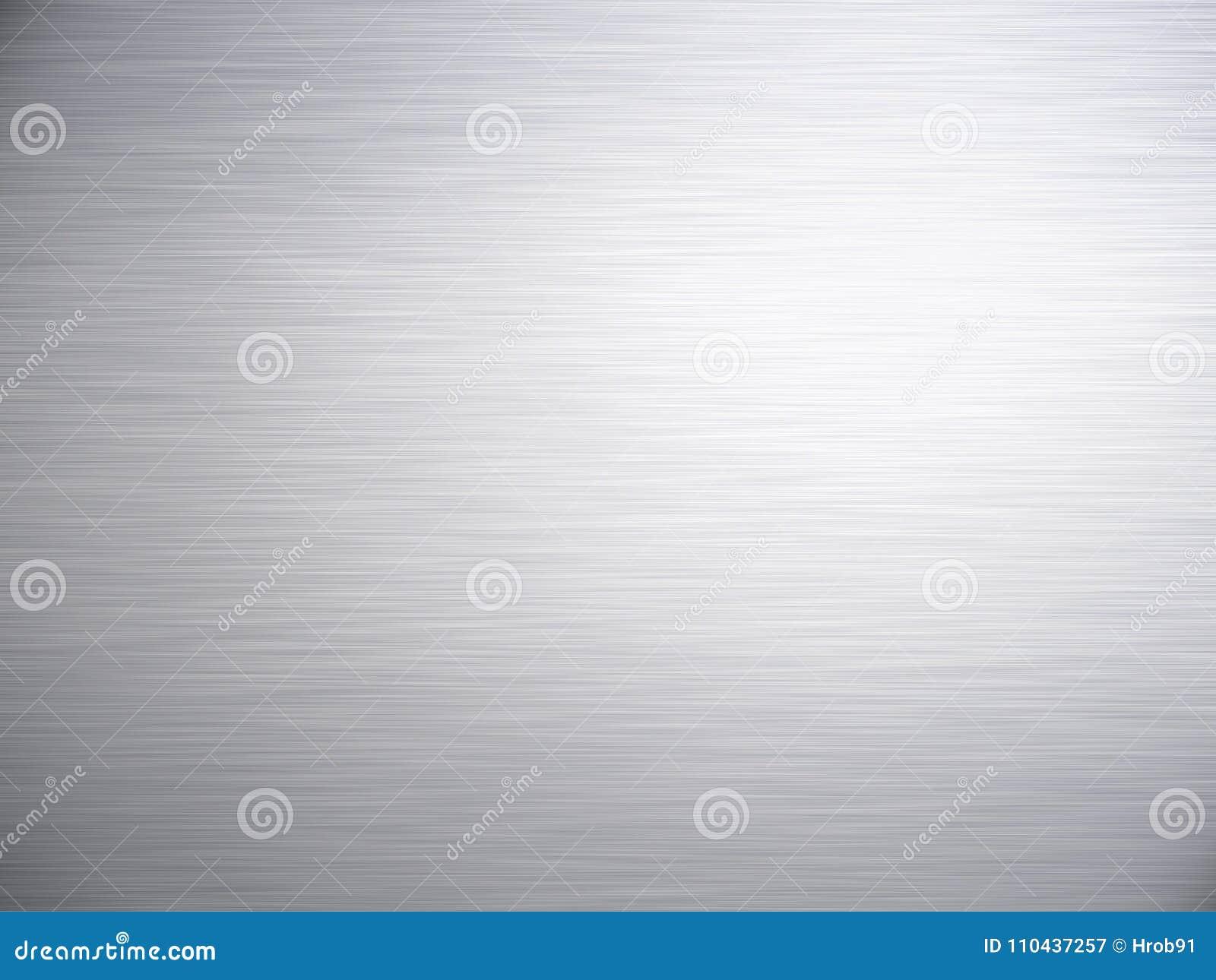 Textura de alumínio de aço escovada do fundo do metal